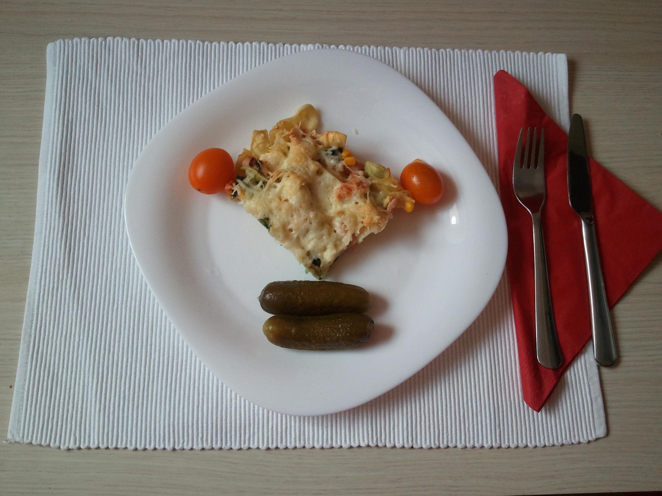 Fotografie receptu: Zapečené barevné těstoviny se sýrem