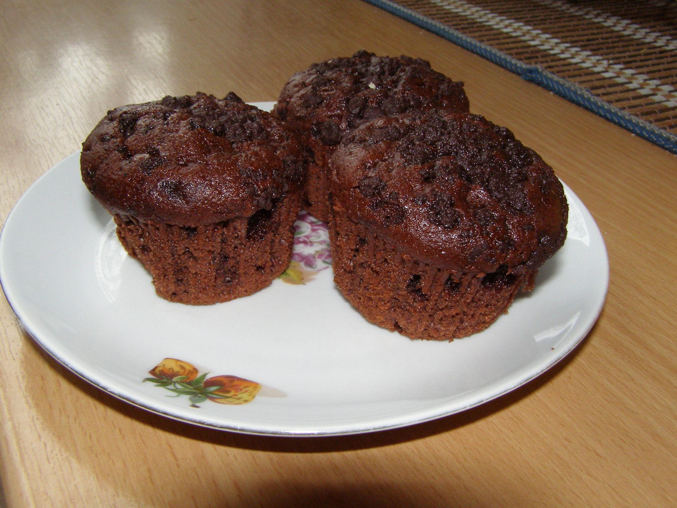 Fotografie receptu: Domácí čokoládové muffiny