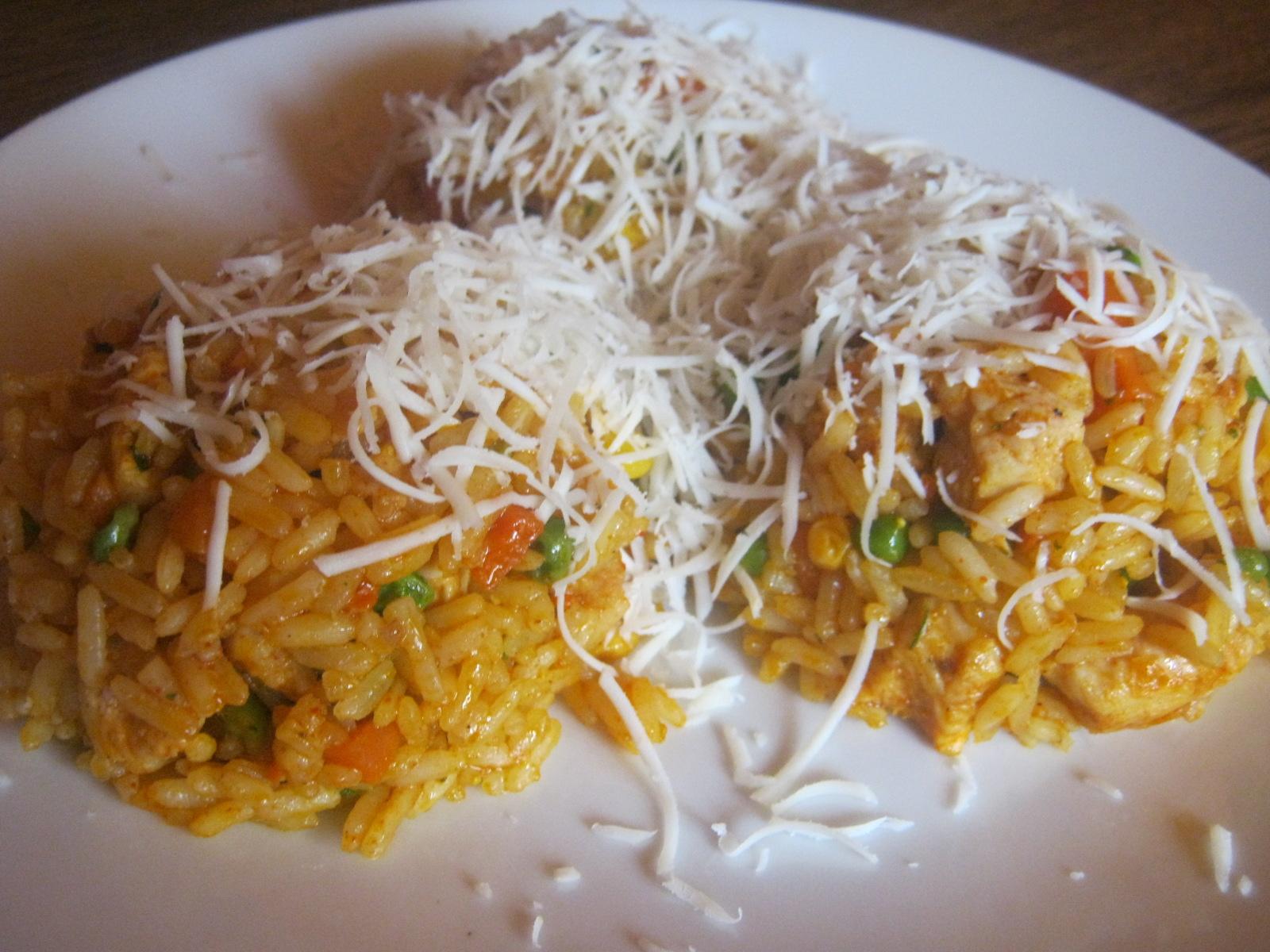 Zeleninové rizoto s kuřecím masem
