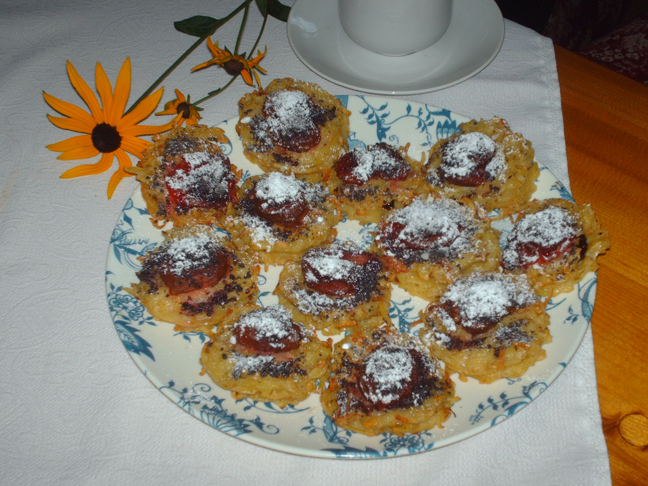 Sladké bramboráčky se švestkami