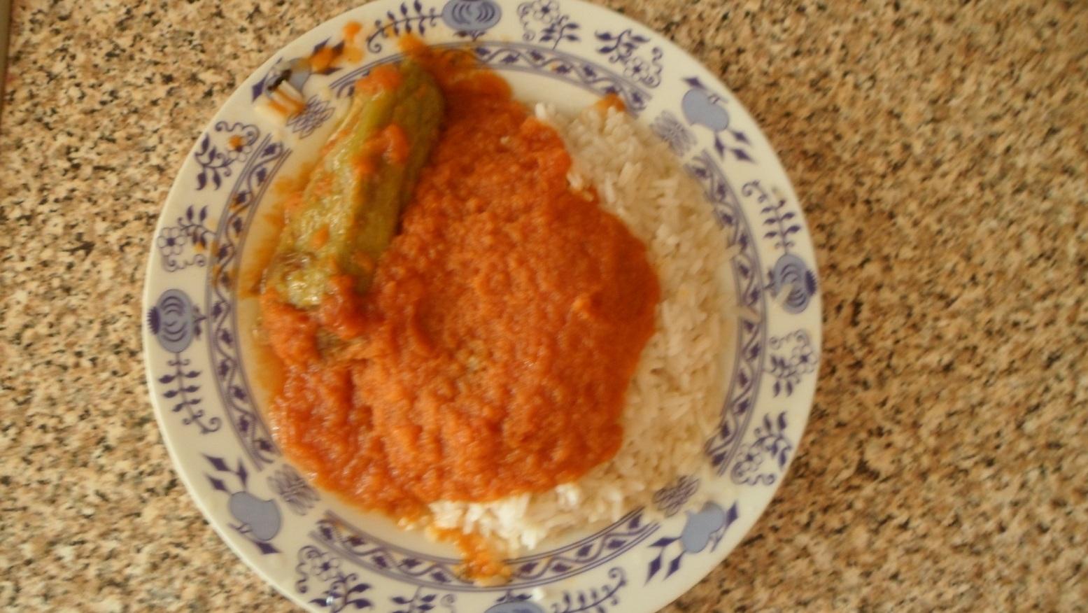 Fotografie receptu: Rajská s paprikou plněnou mletým masem