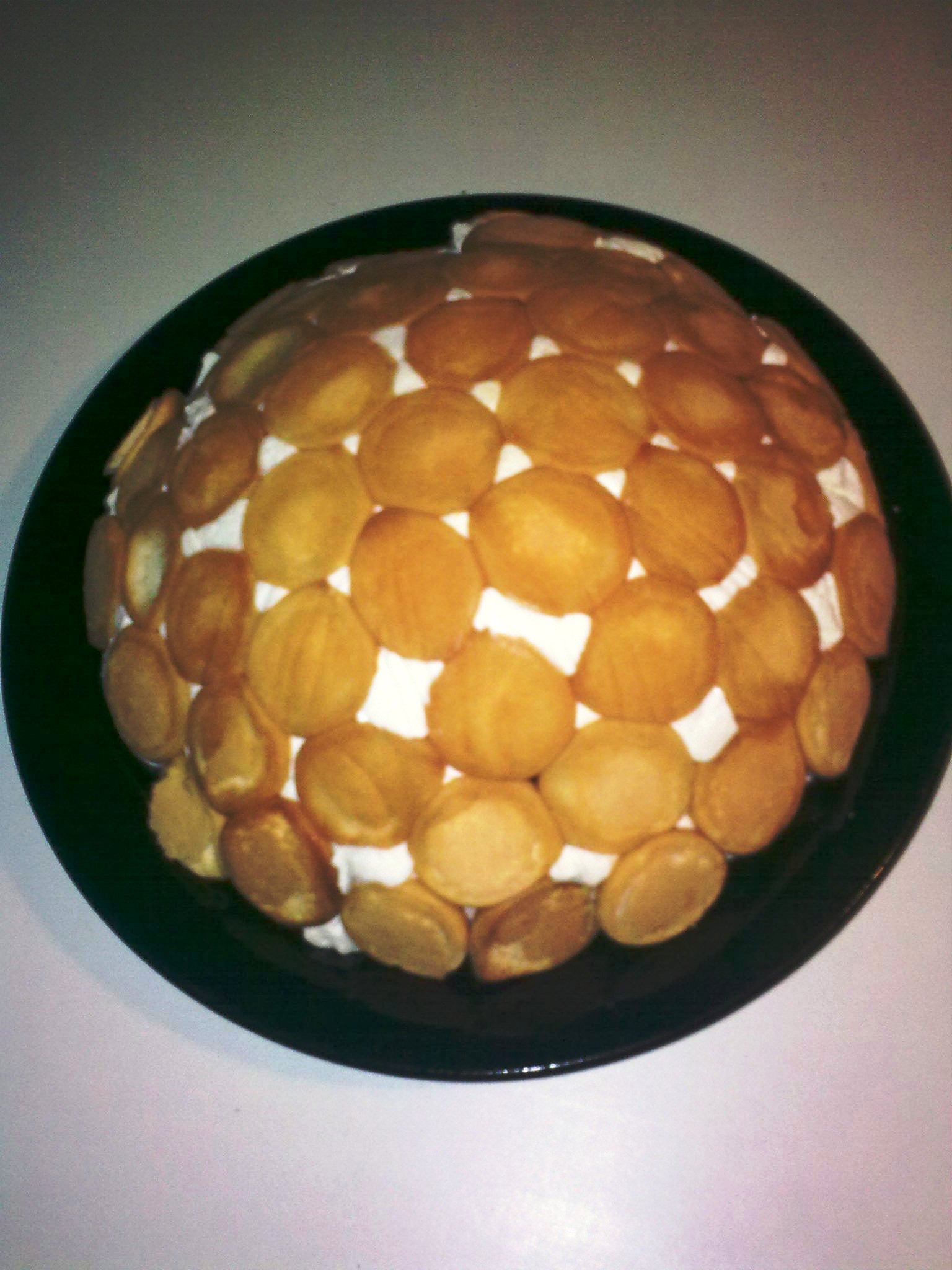 Nepečený šlehačkový dort