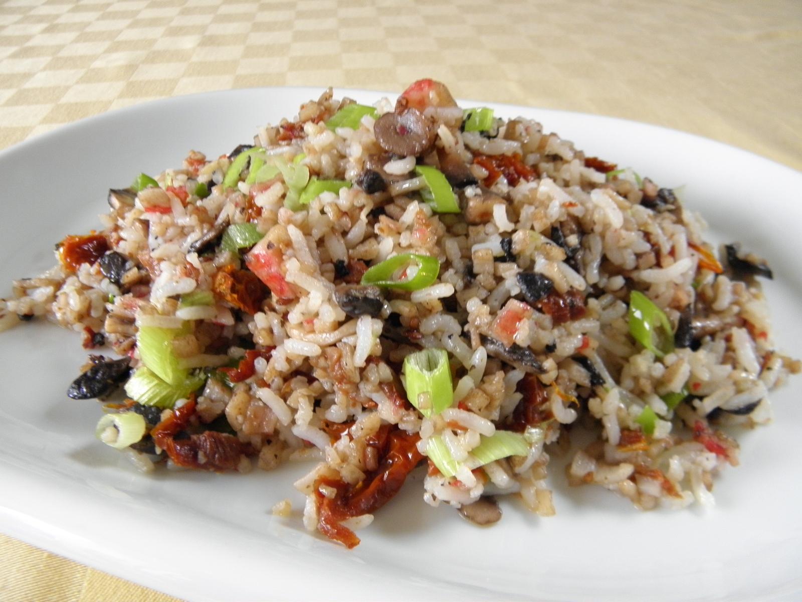 Rýžová směs se žampiony
