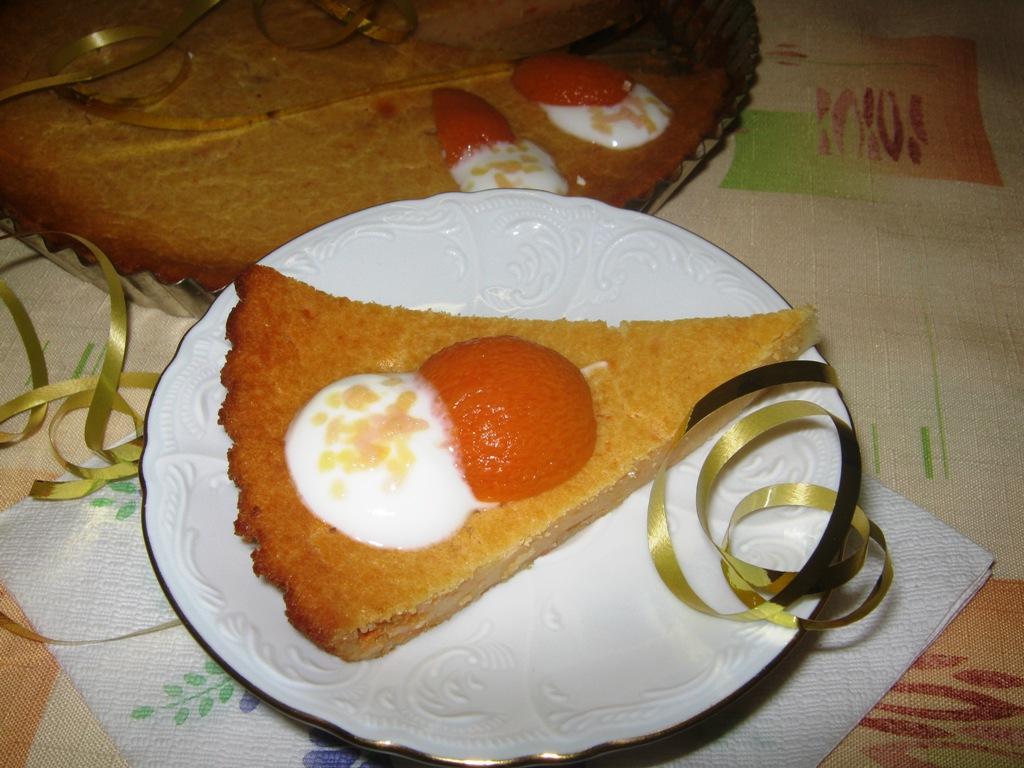 Tvarohový meruňkový koláč