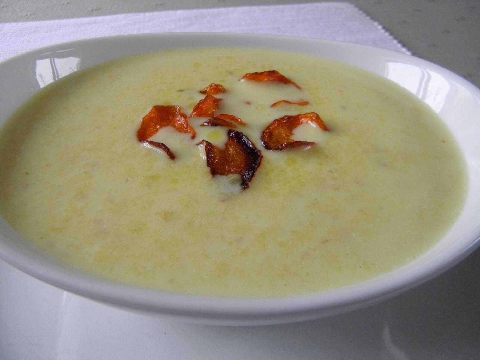 Bílá polévka z tresky