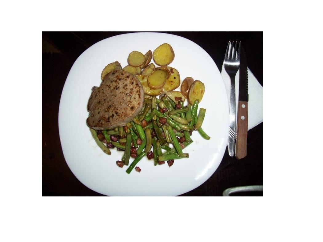 Fotografie receptu: Biftek s fazolovými lusky