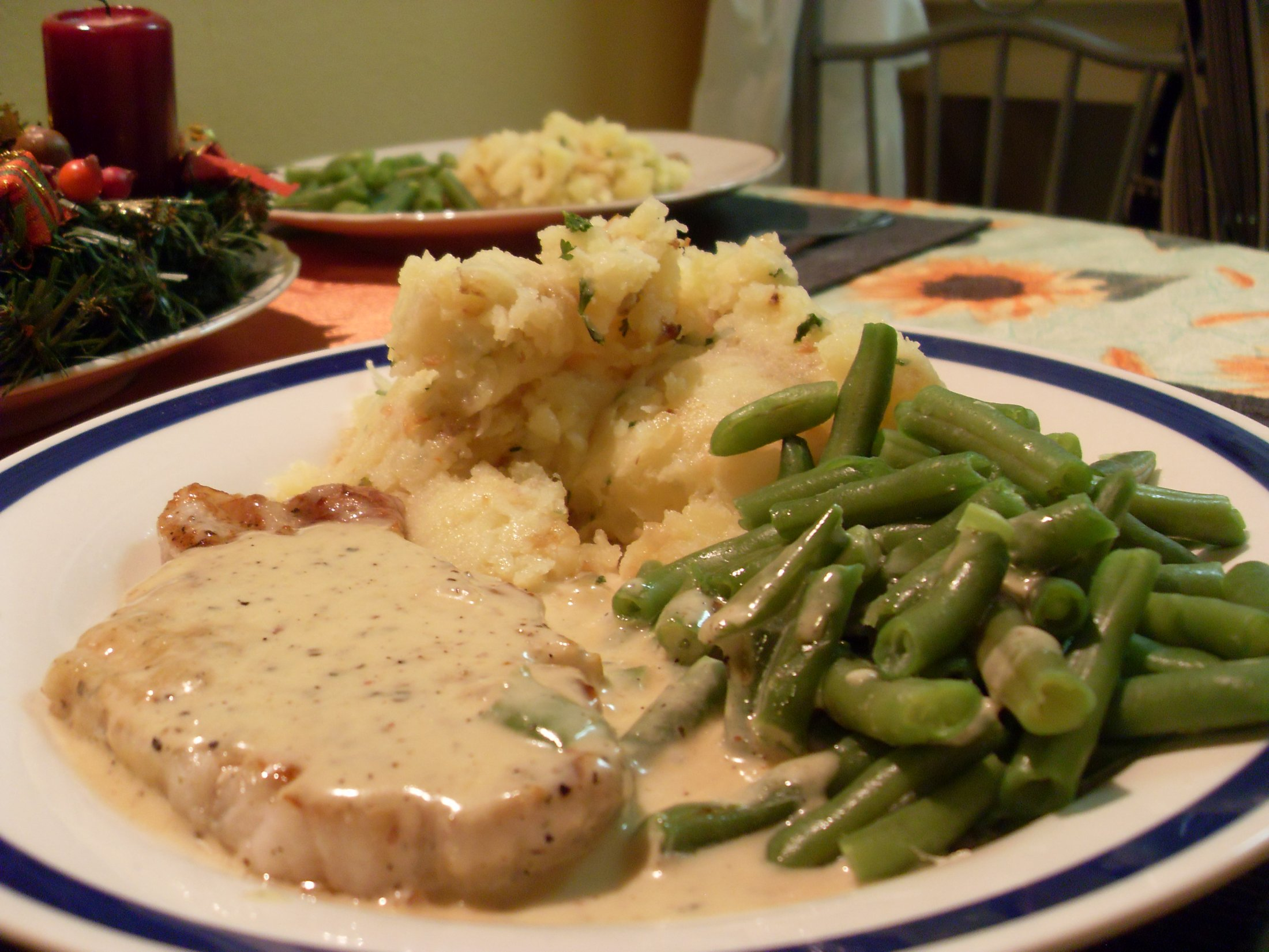 Fotografie receptu: Vepřový steak s pepřovou omáčkou