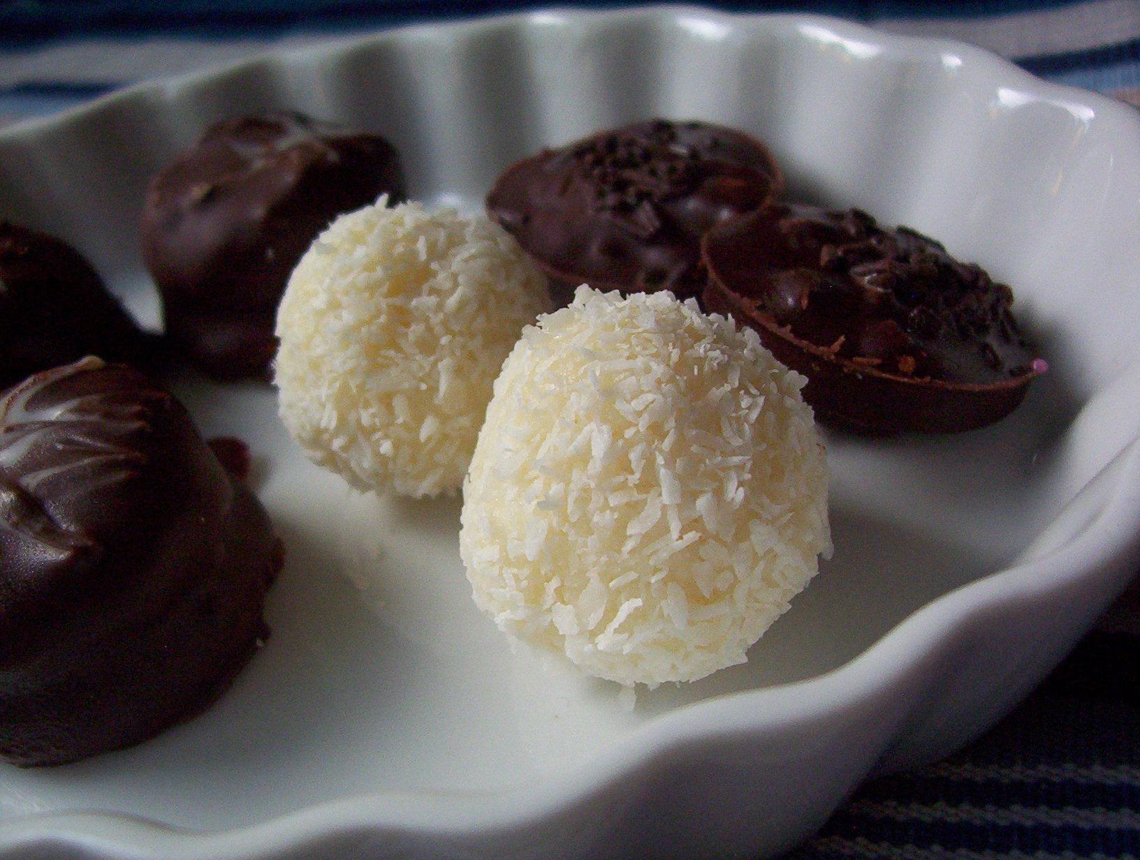 Vláčné kokosové kuličky