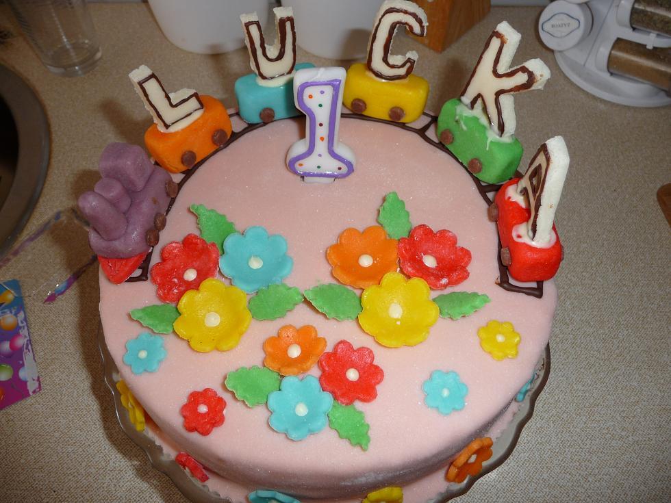 Dětský dort s mašinkou