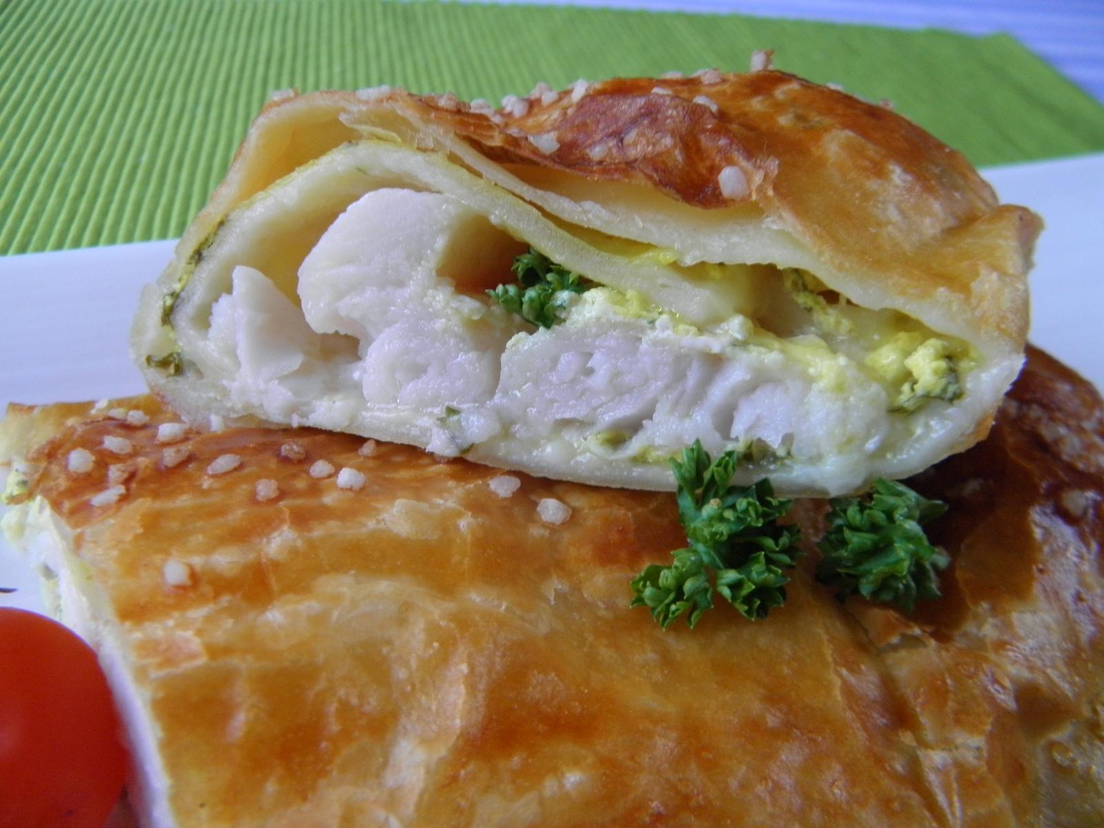 Fotografie receptu: Rybí filety v listovém těstě