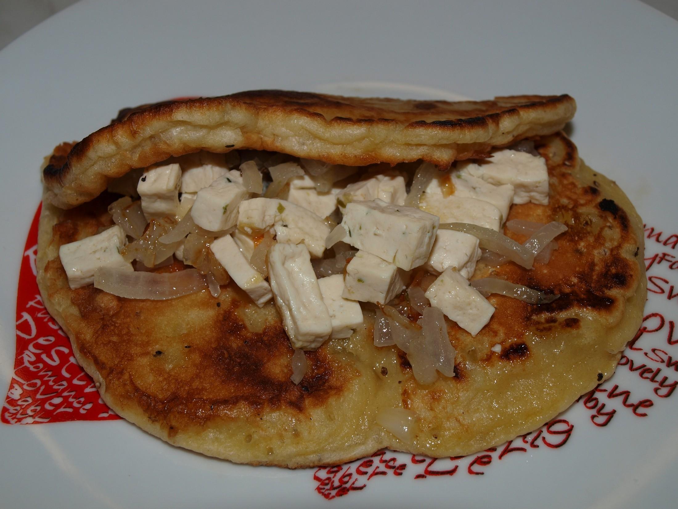 Bramborové omelety s tofu