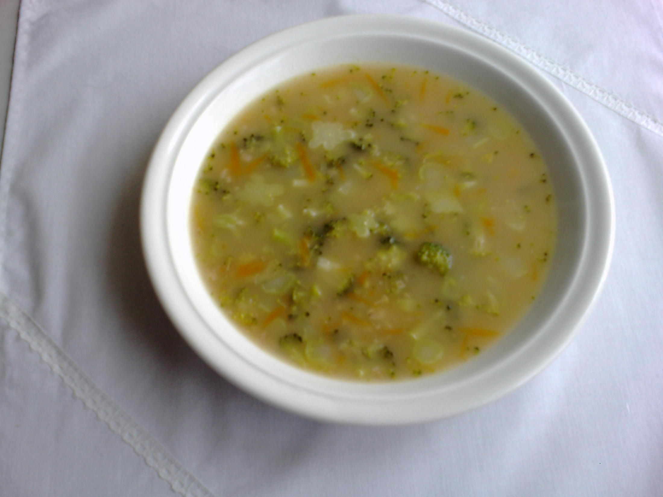 Fotografie receptu: Brokolicová polévka s vločkami