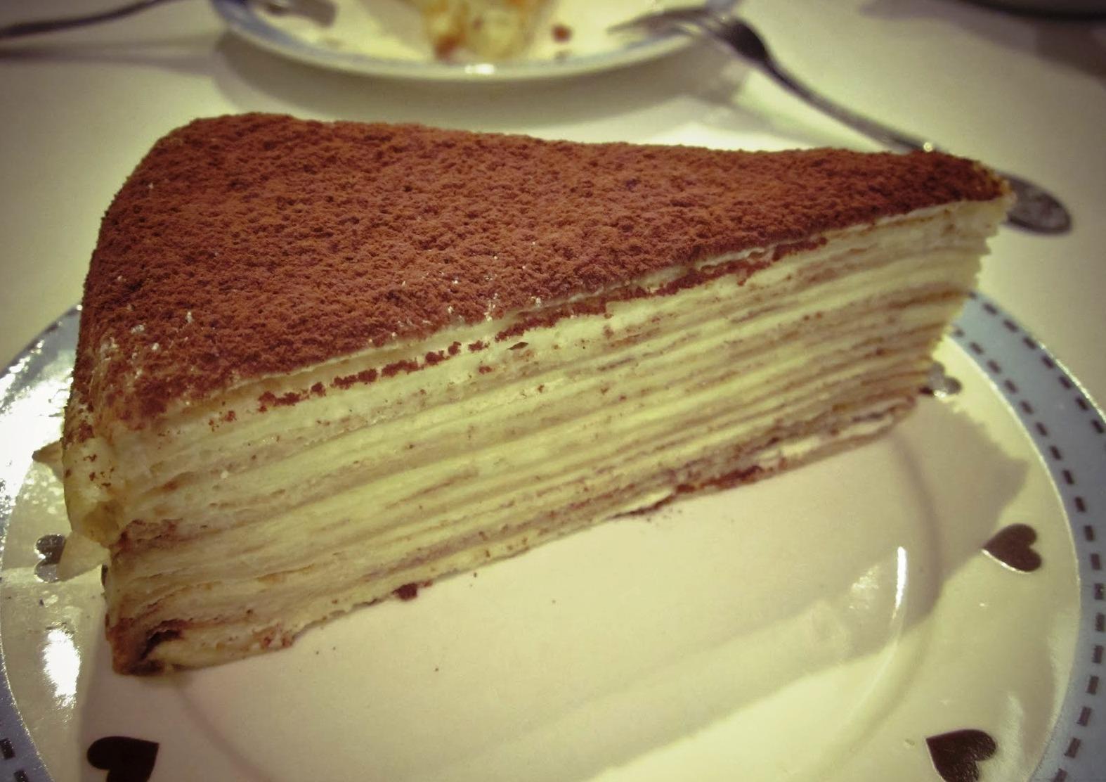 Tiramisu crepe tart