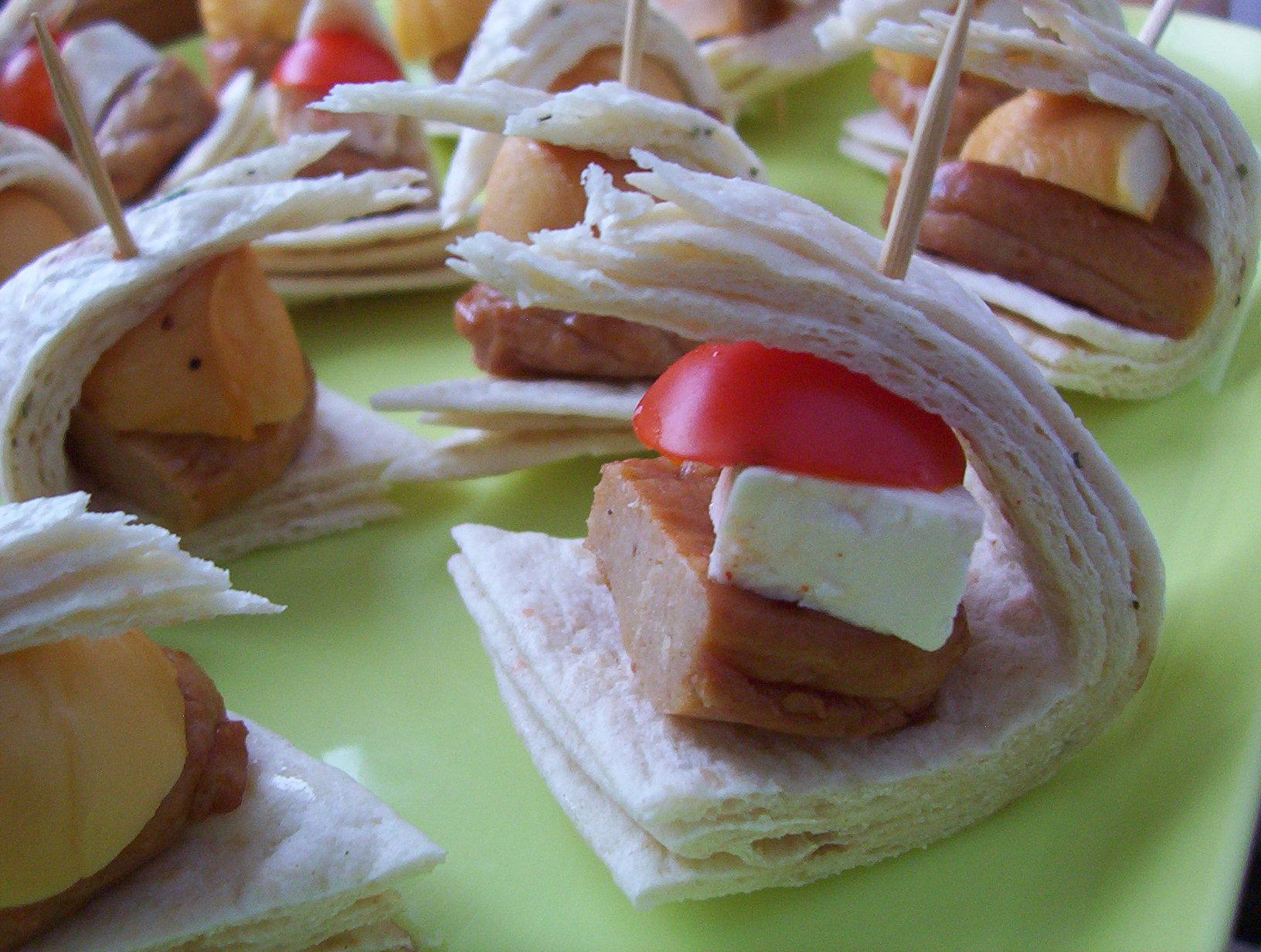Máslové tortillové jednohubky