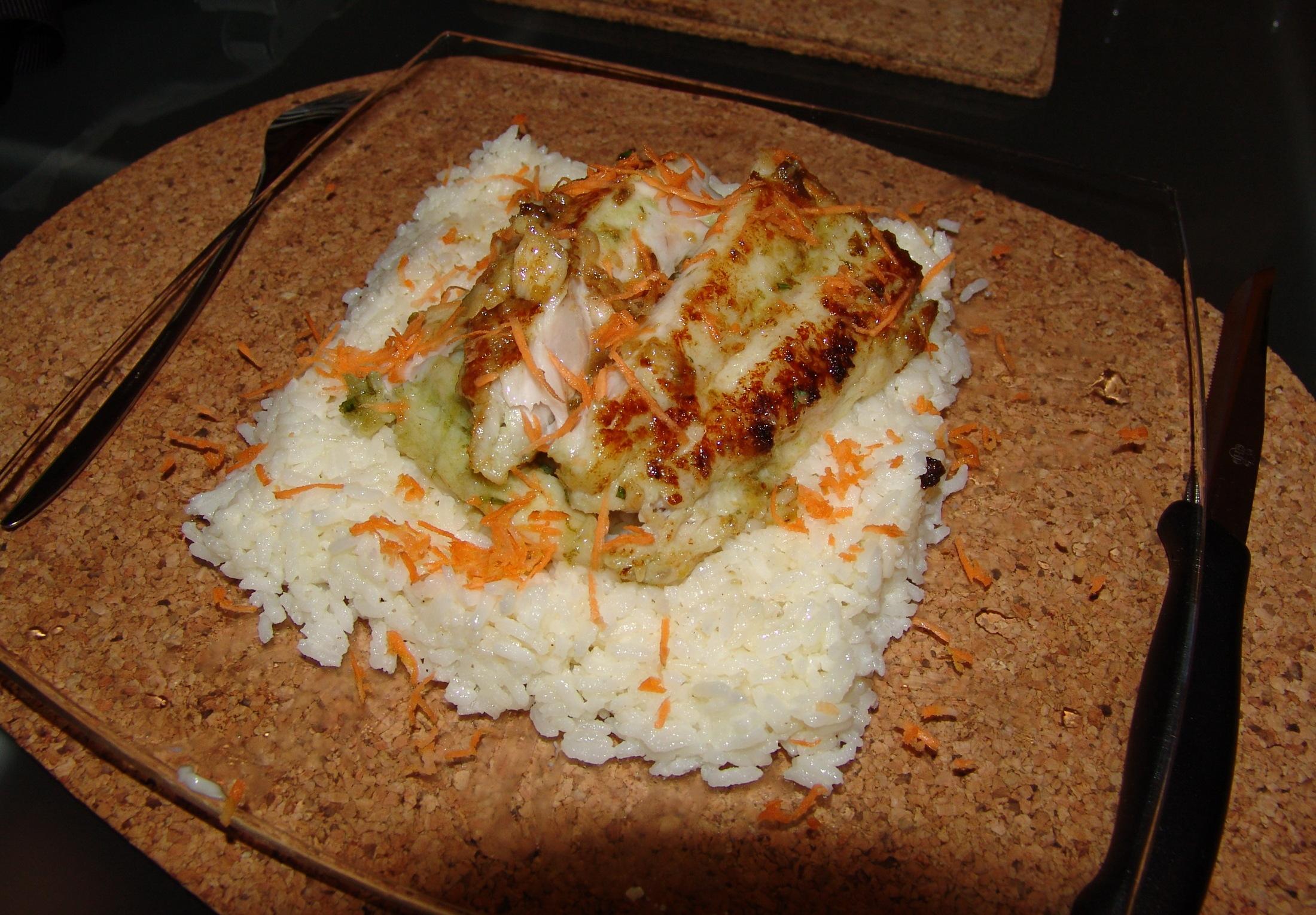 Fotografie receptu: Okoun na rýžovém polštářku