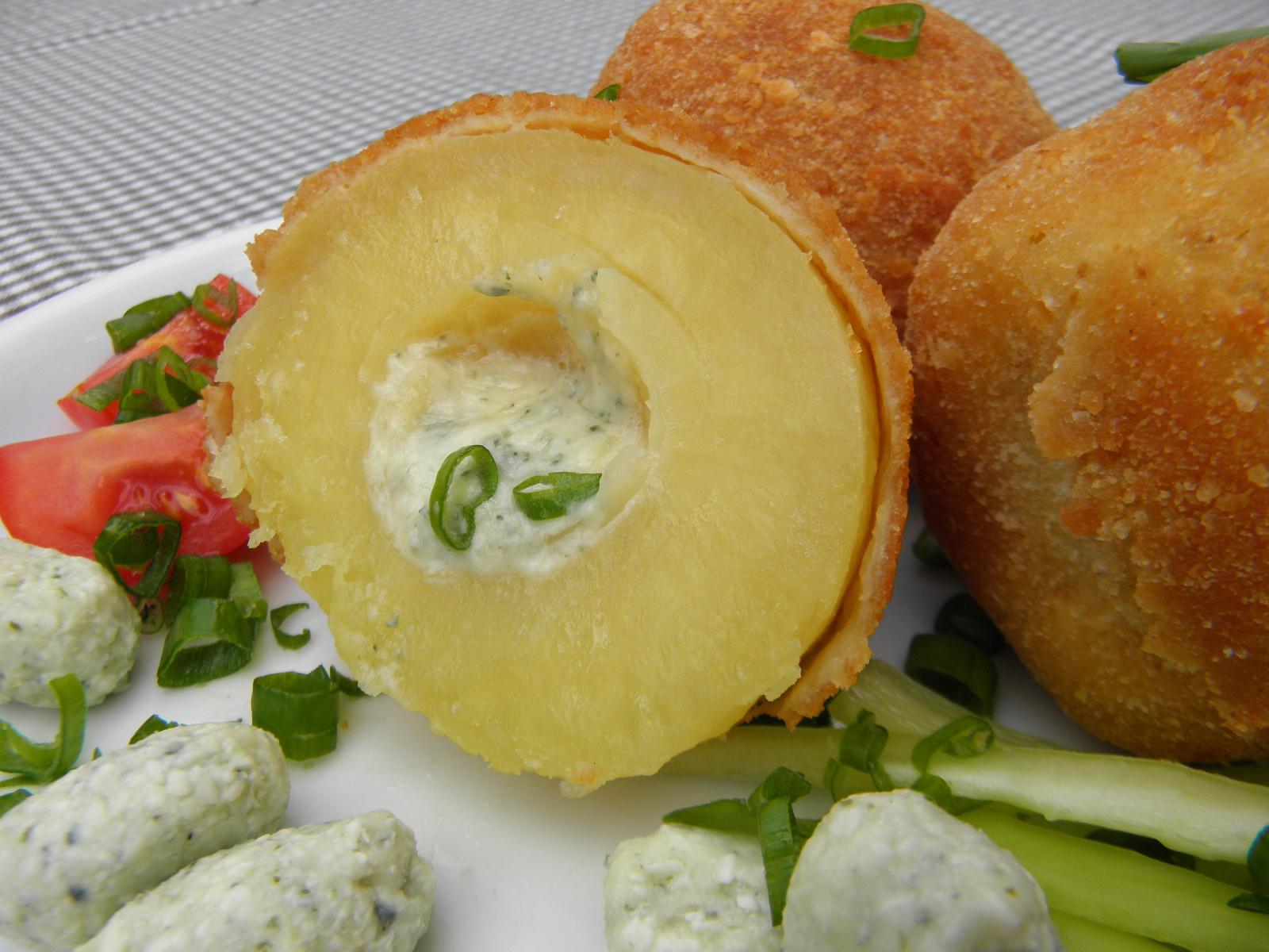 Smažené plněné brambory