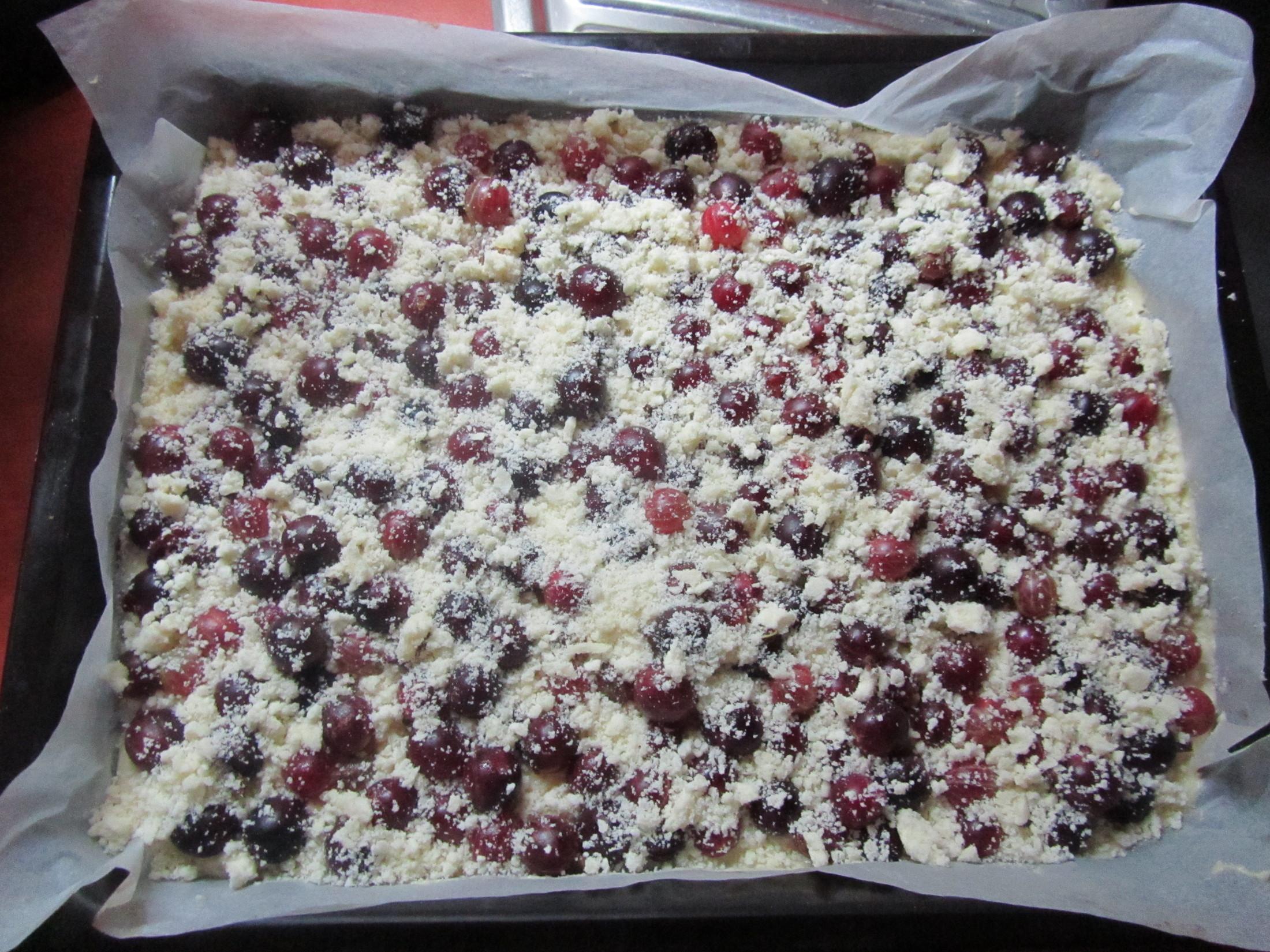 Fotografie receptu: Piškotová buchta s ovocem