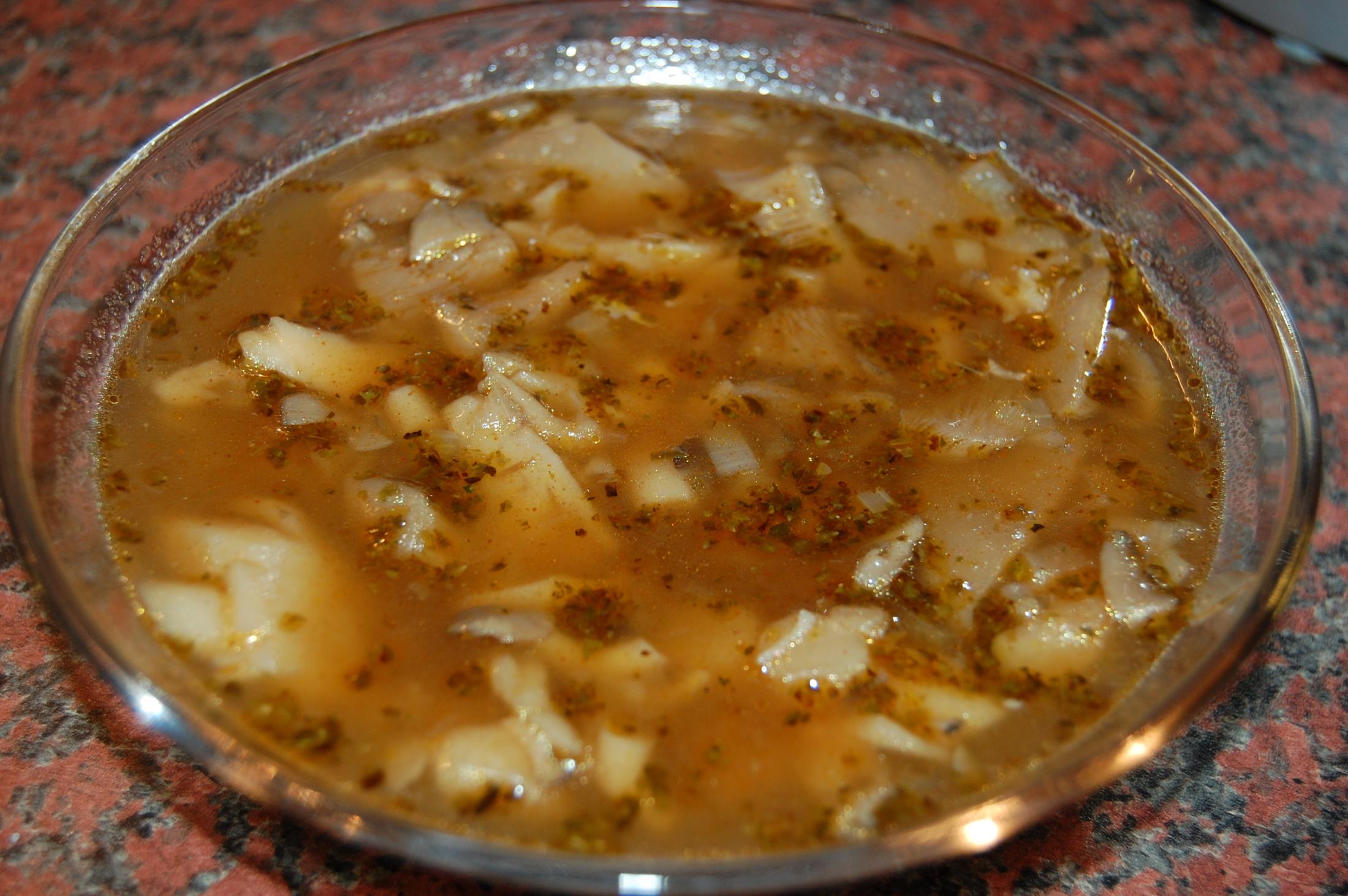 Fotografie receptu: Falešná dršťková polévka z hlívy ústřičné