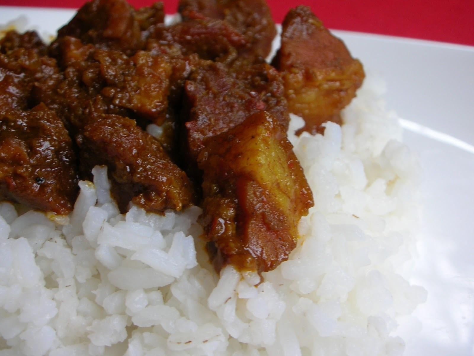 Fotografie receptu: Indické vepřové curry s fazolemi
