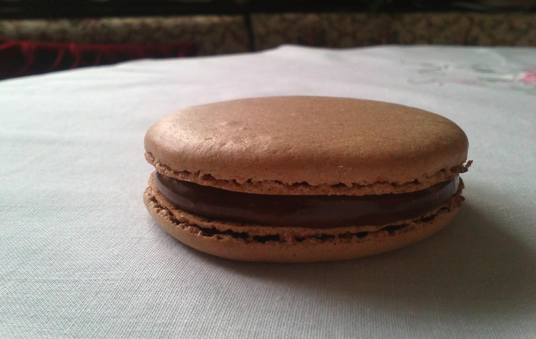 Fotografie receptu: Čokoládové makronky - Macarons au chocolat