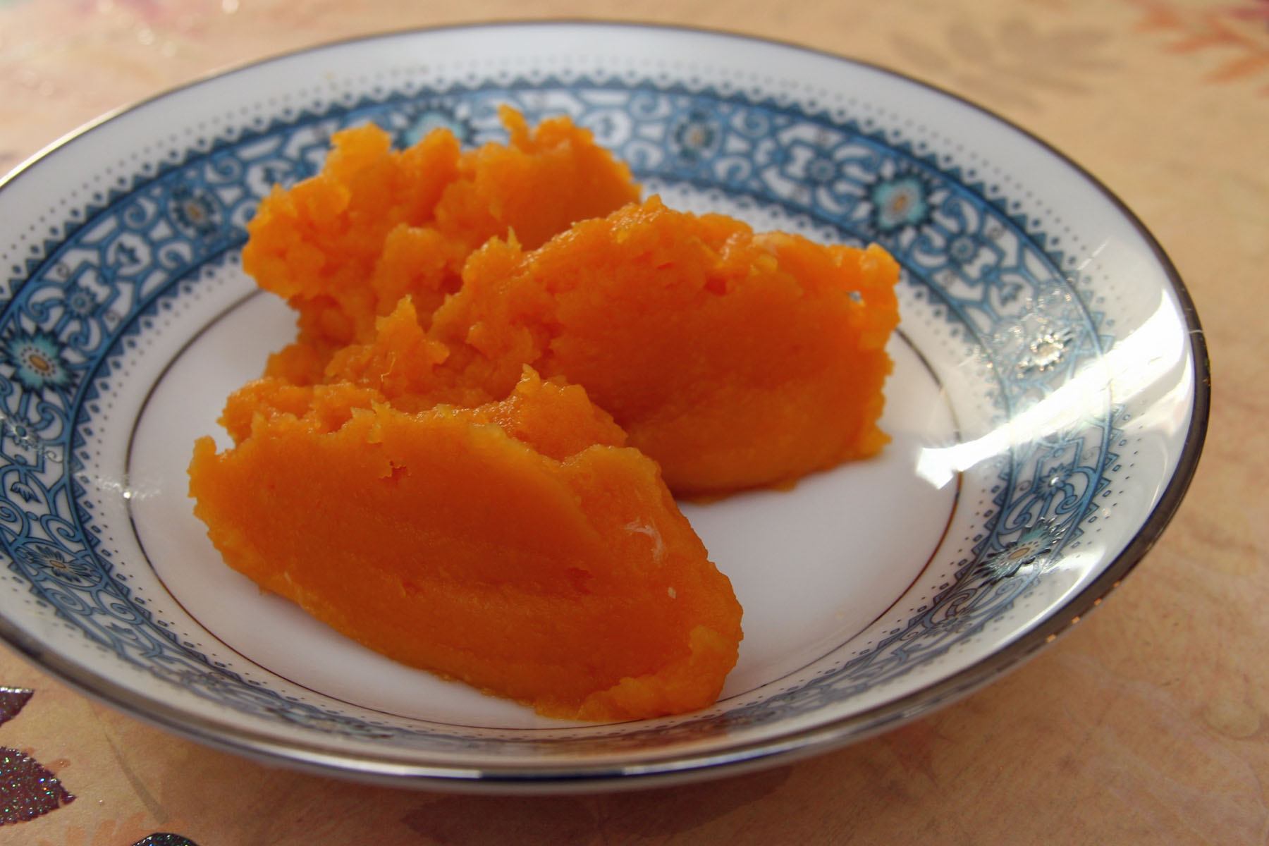 Příkrm batáty s mrkví