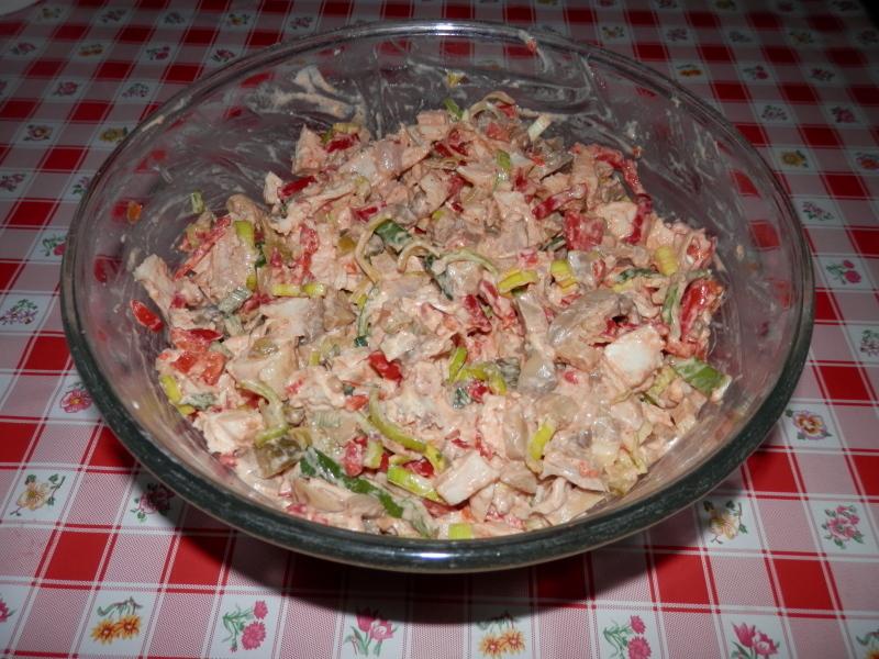 Kuřecí salát s pórkem