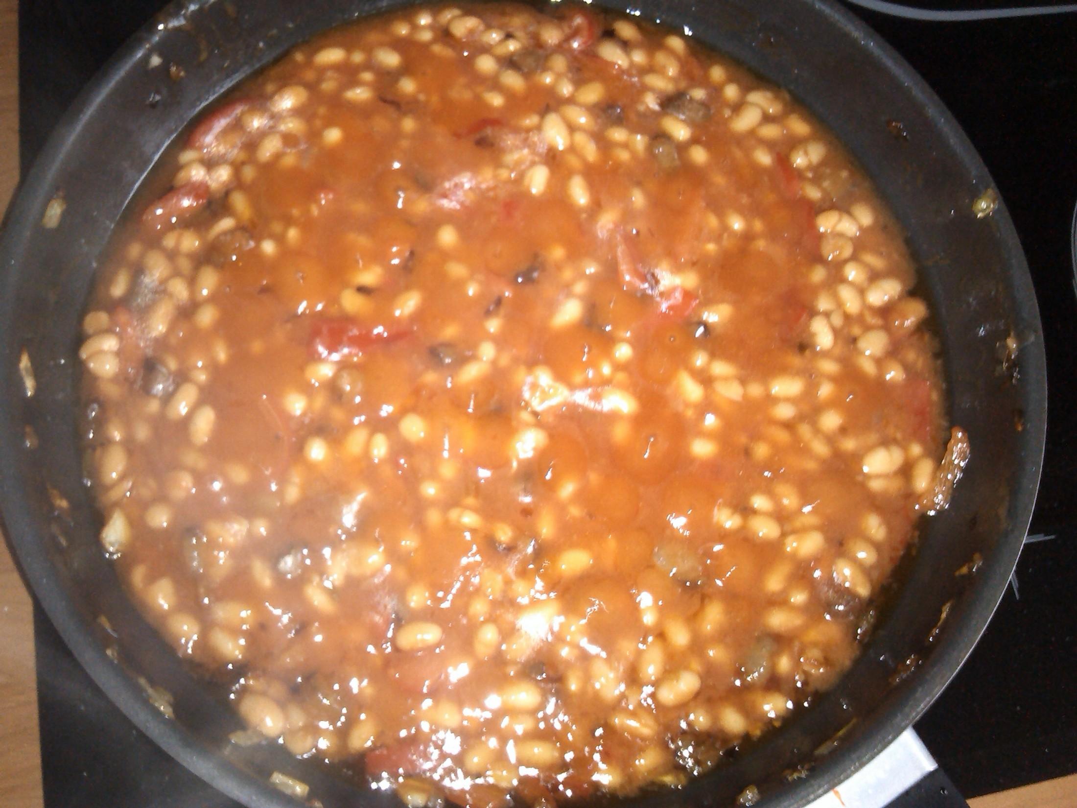 Pikantní bílé fazole