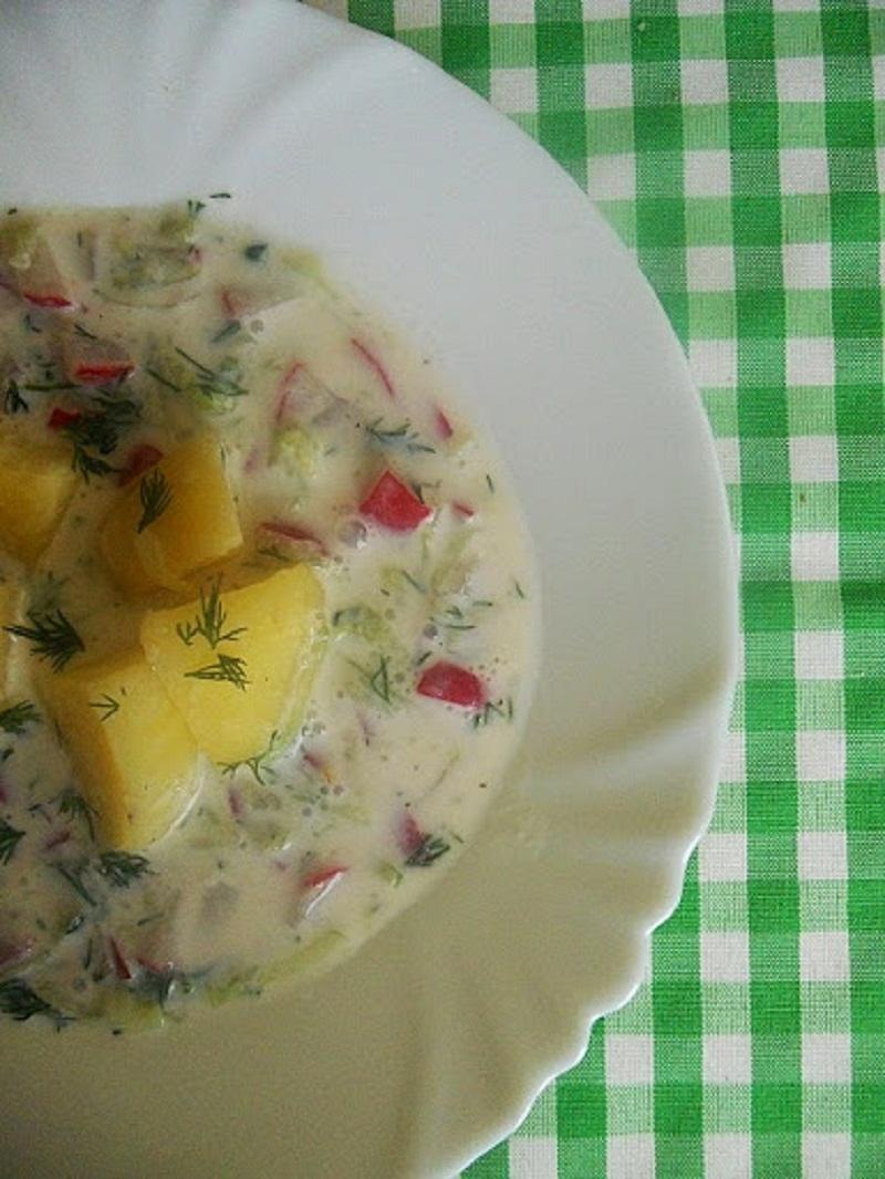 Veganská jarní polévka