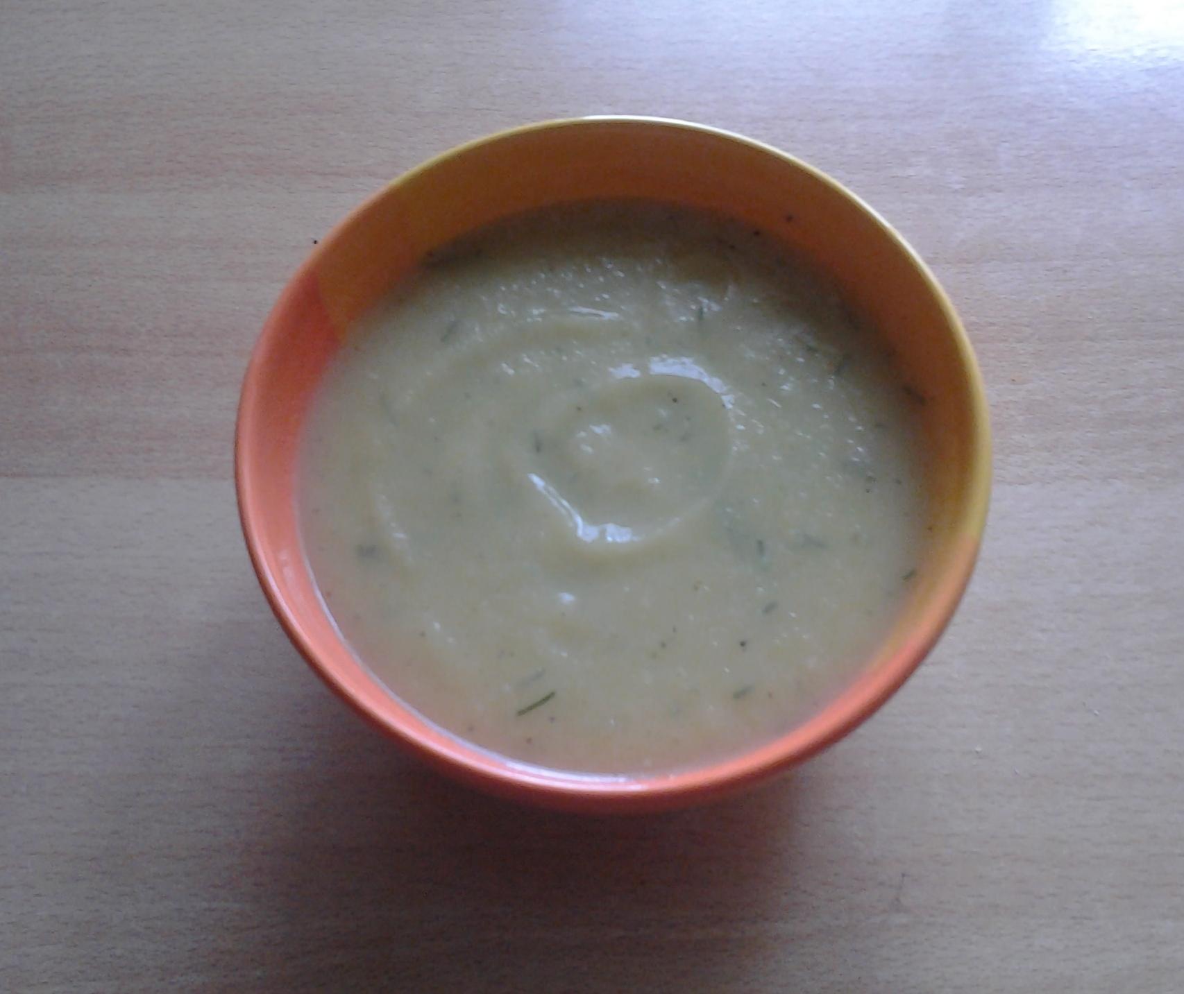 Cuketová krémová polévka