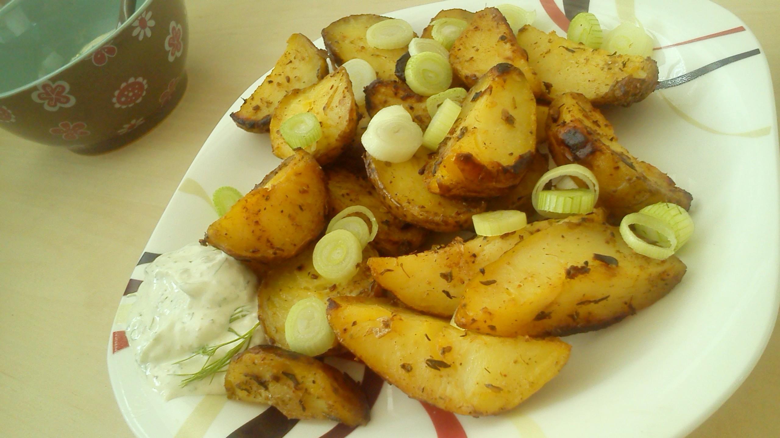 Pepřené pečené brambory