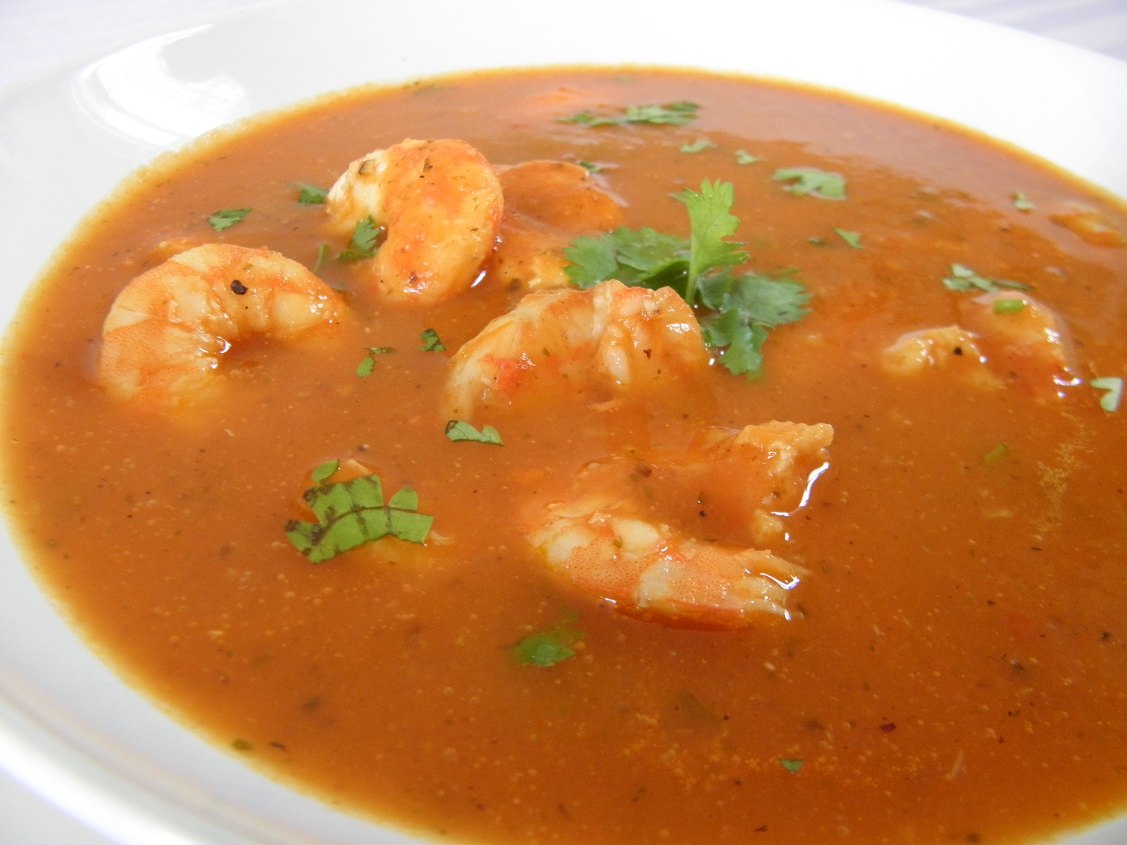 Ostrá krevetová polévka