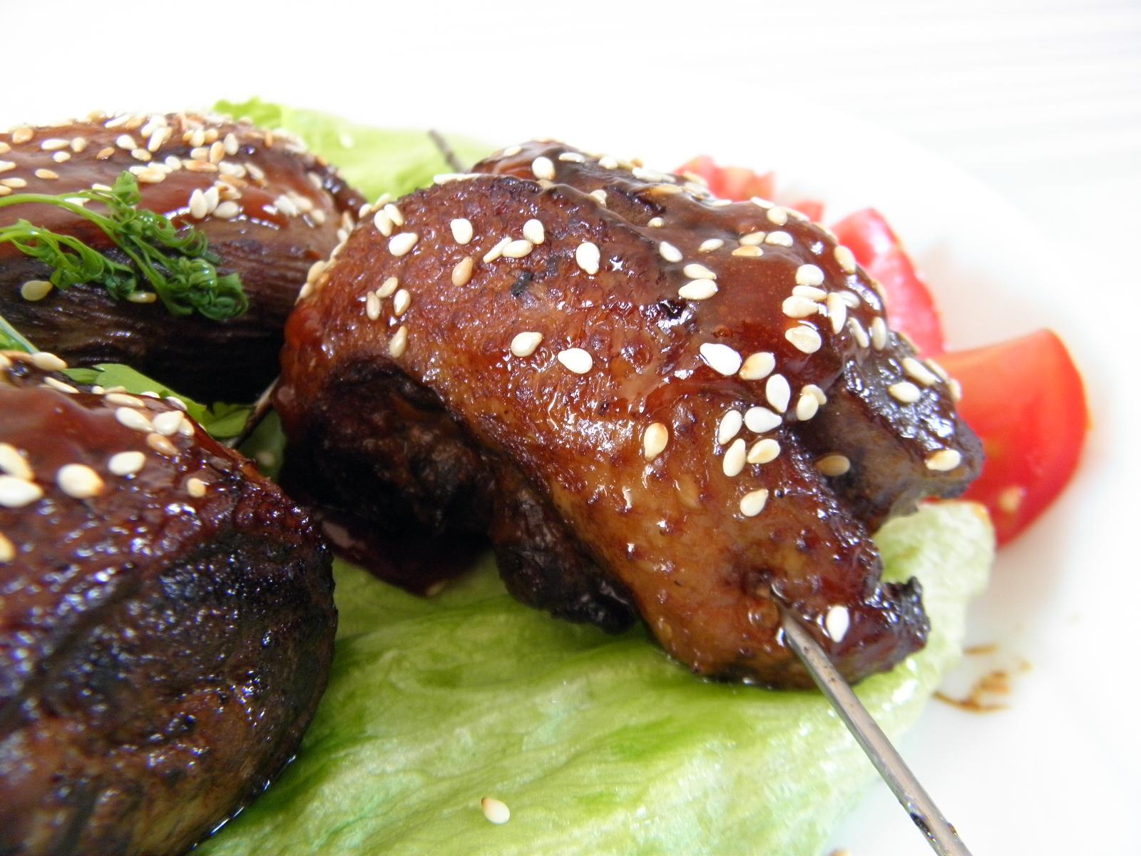 Grilovaná kachní prsa v sezamu