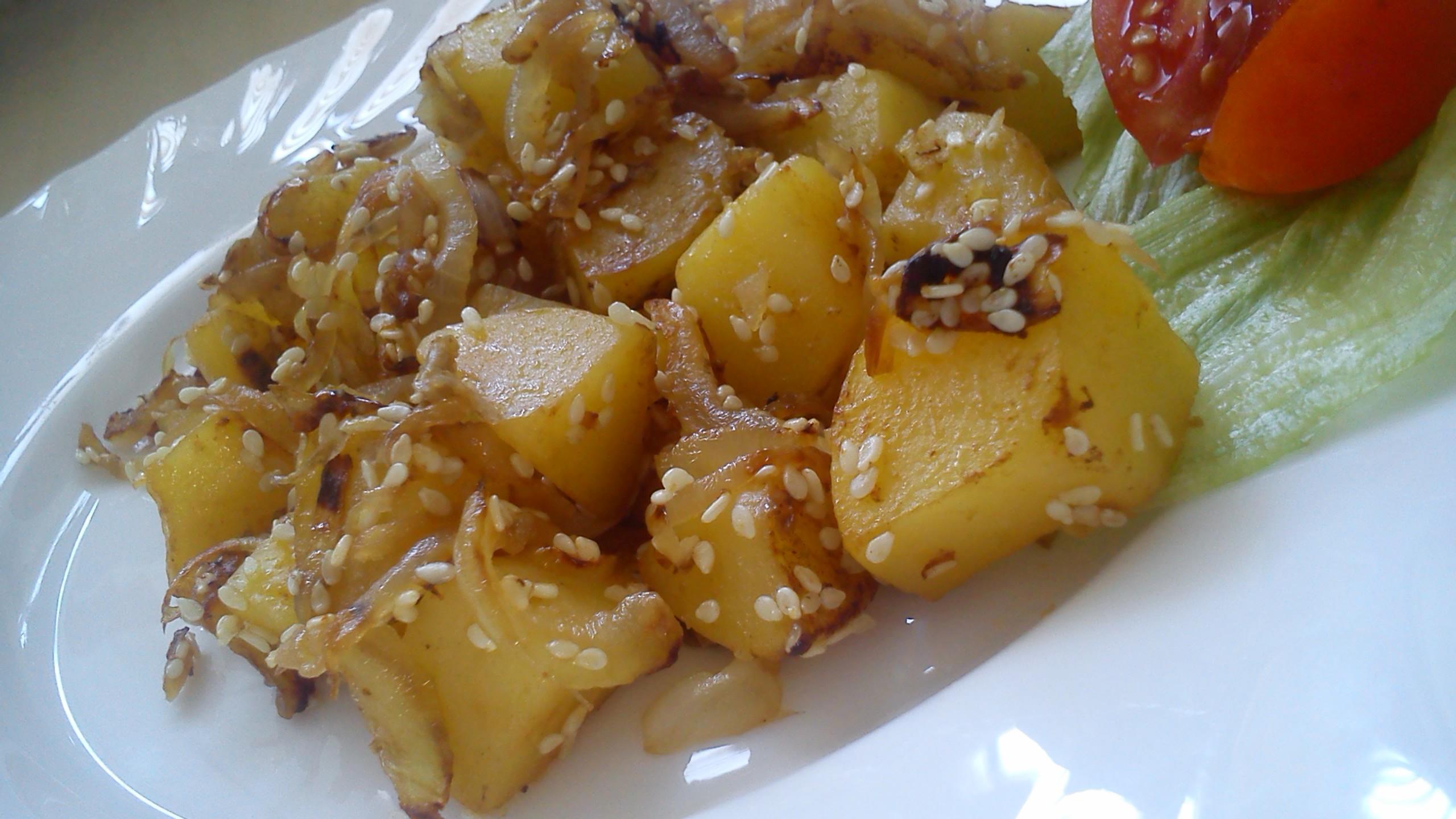Sezamové brambory