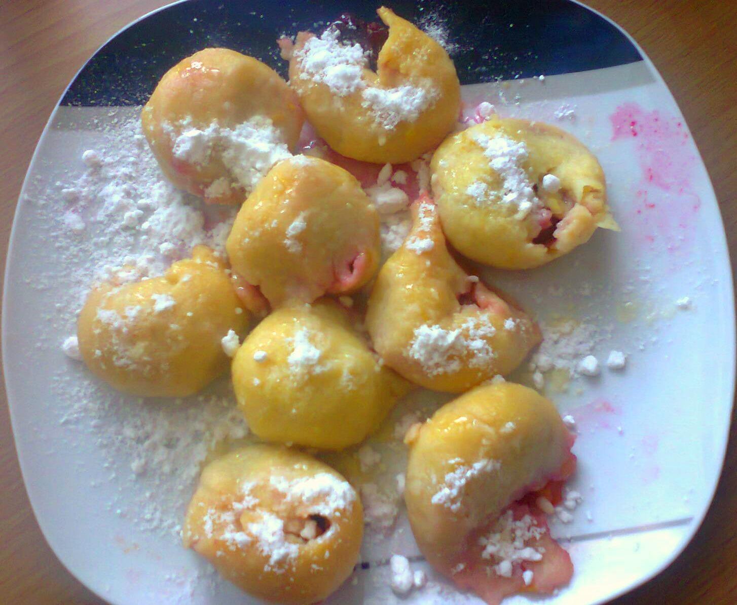 Švestkové knedlíky z bramborového těsta 1