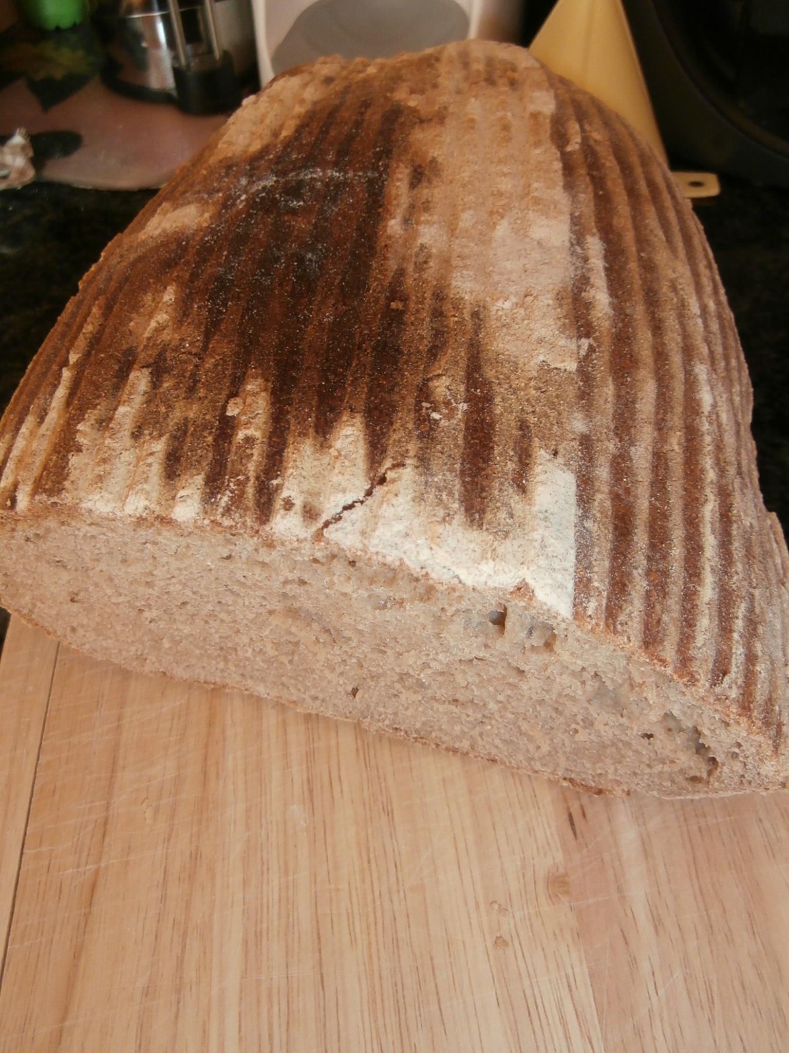 Celokváskový chléb včetně výroby kvásku