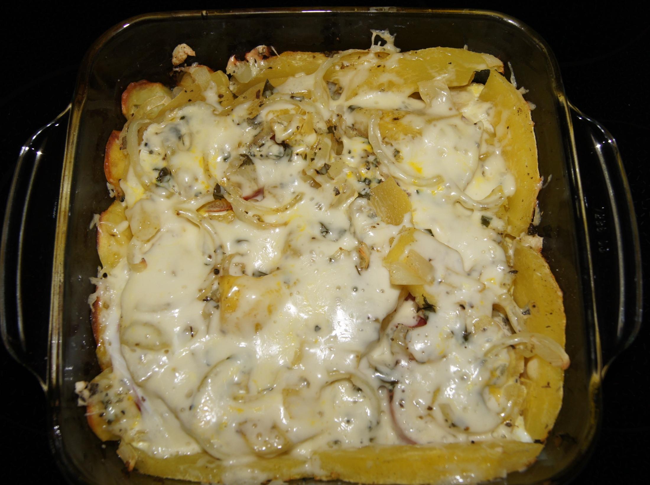 Fotografie receptu: Zapečená špagetová dýně