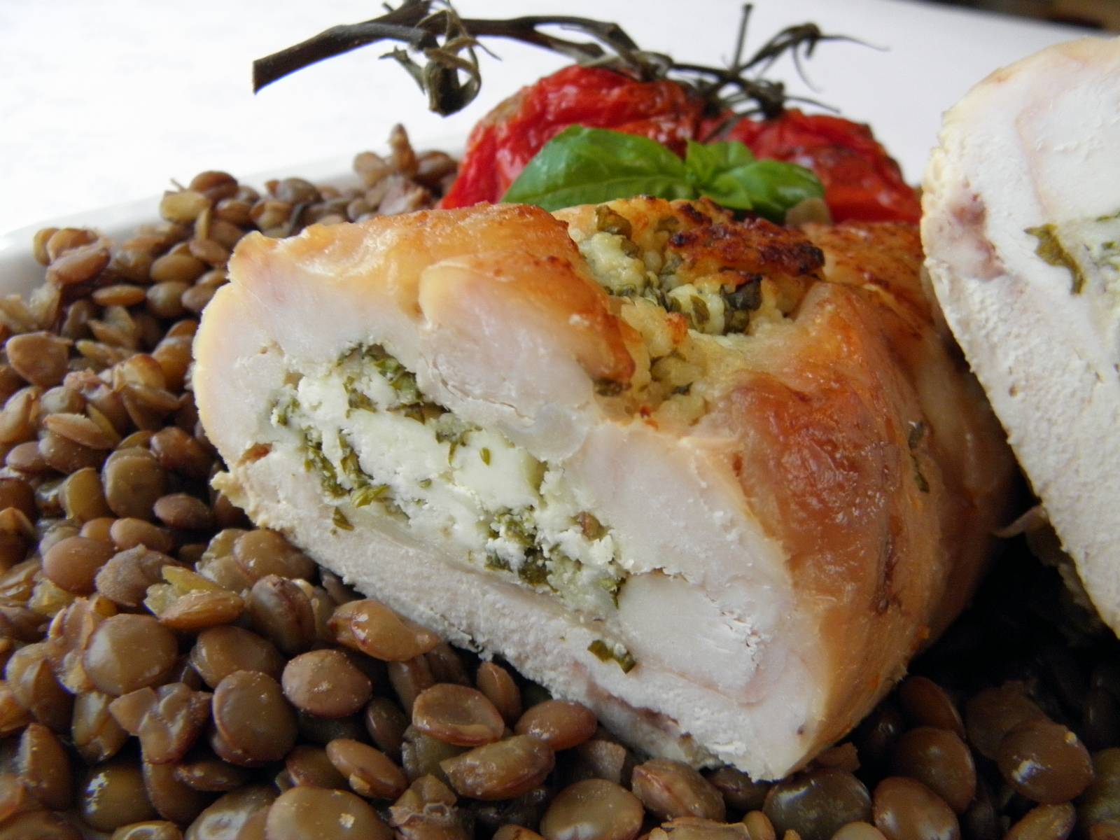 Kuřecí rolky plněné sýrovou směsí