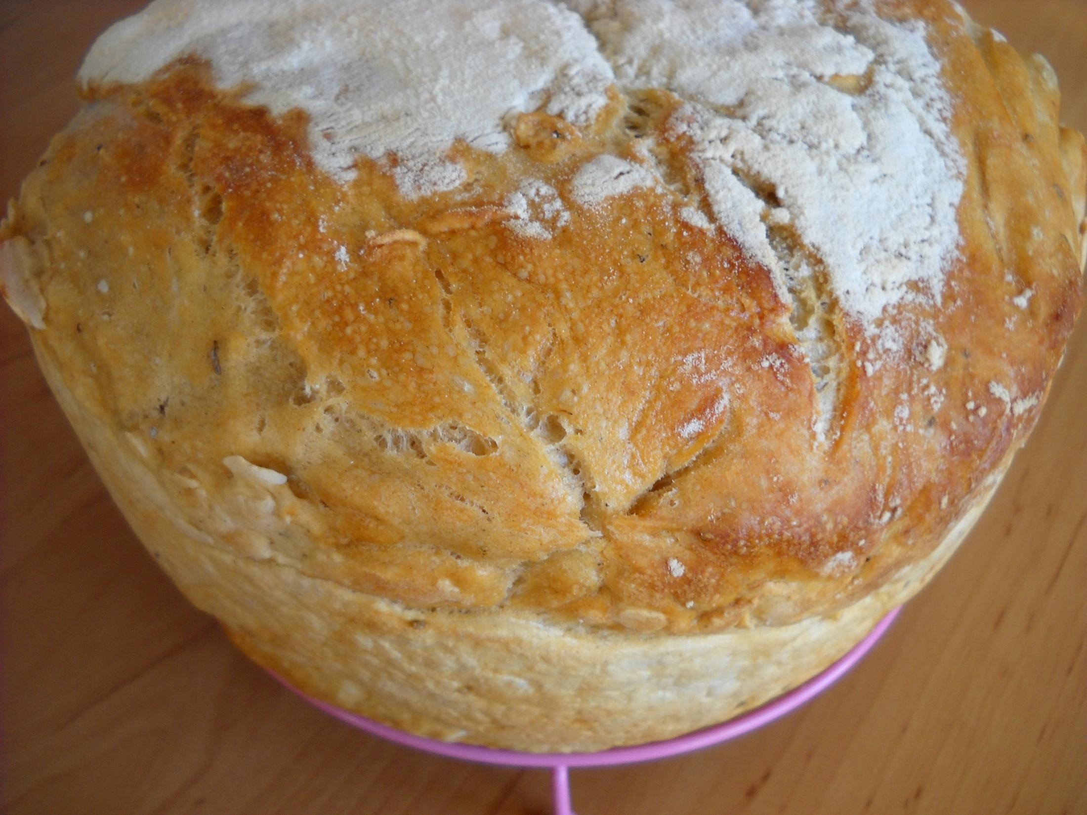 Kváskový chléb bez práce