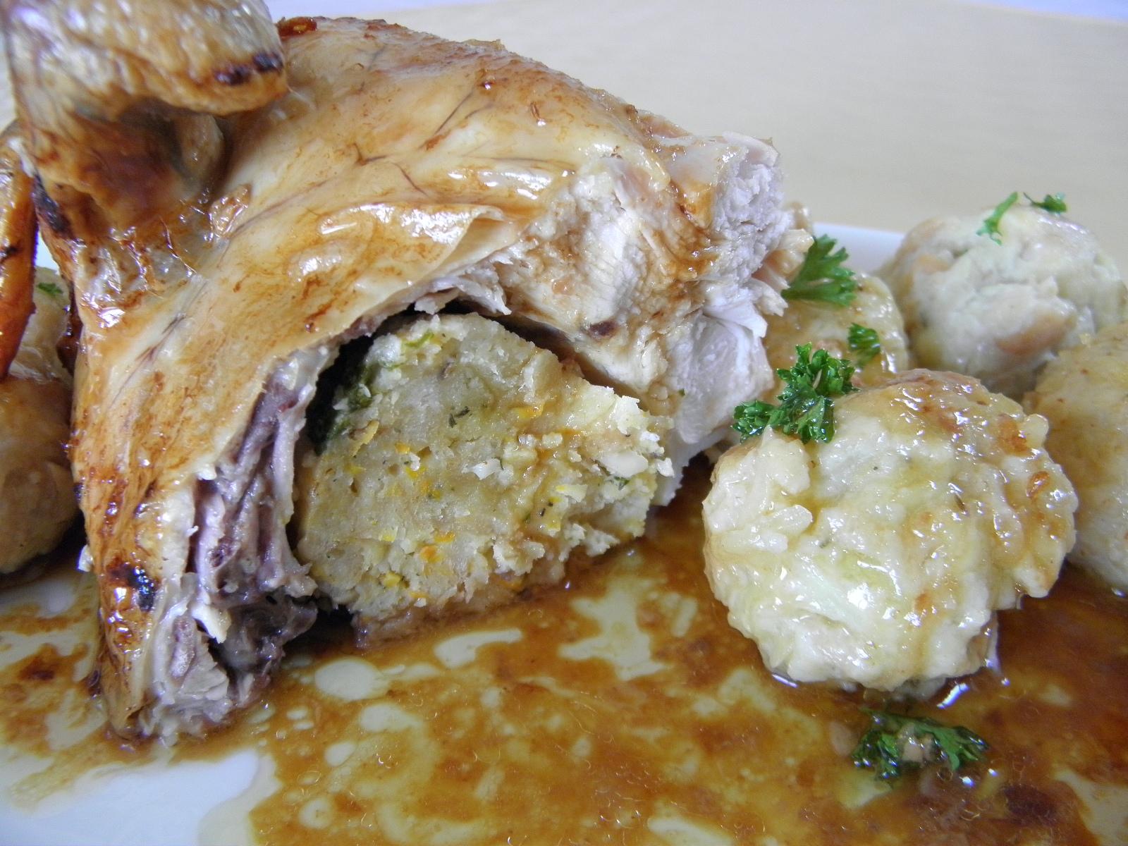 Pečené nadívané kuře s chutí tymiánu