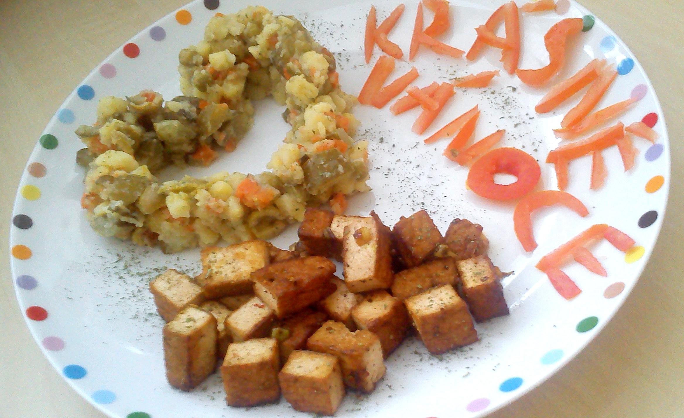 Fotografie receptu: Vánoční veganské tofu