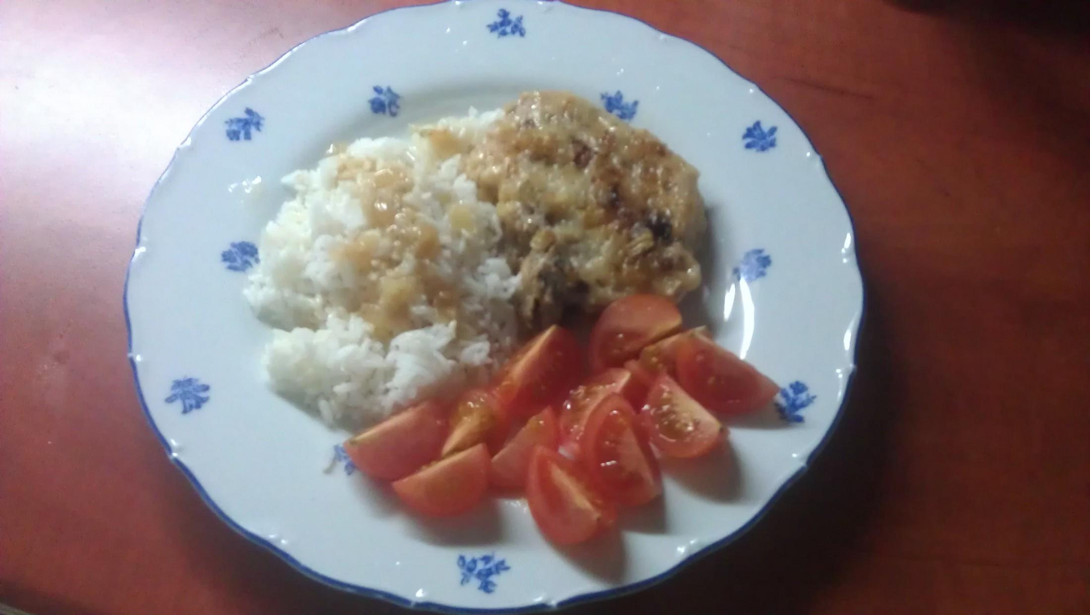 Pečené kotlety s rýží