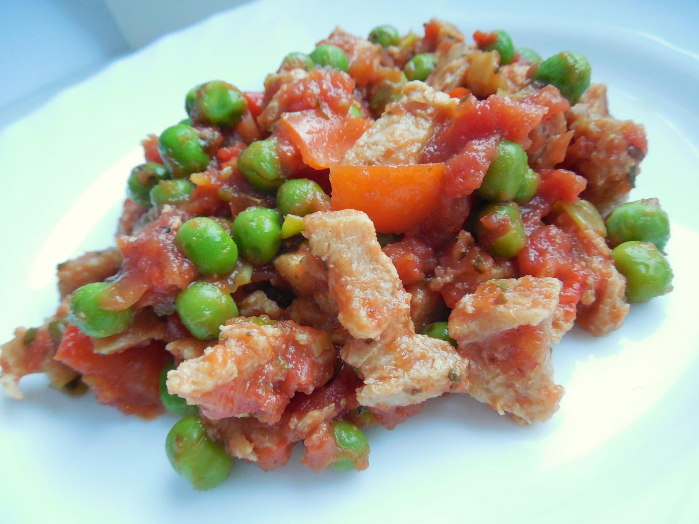 Fotografie receptu: Sójová čína s rajčaty