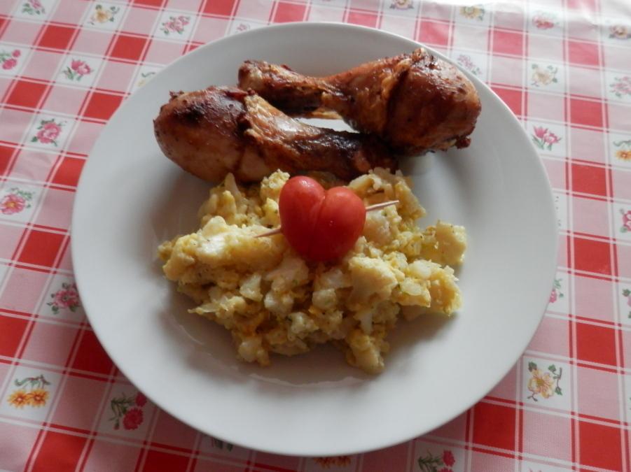 Květákový mozeček s kuřetem