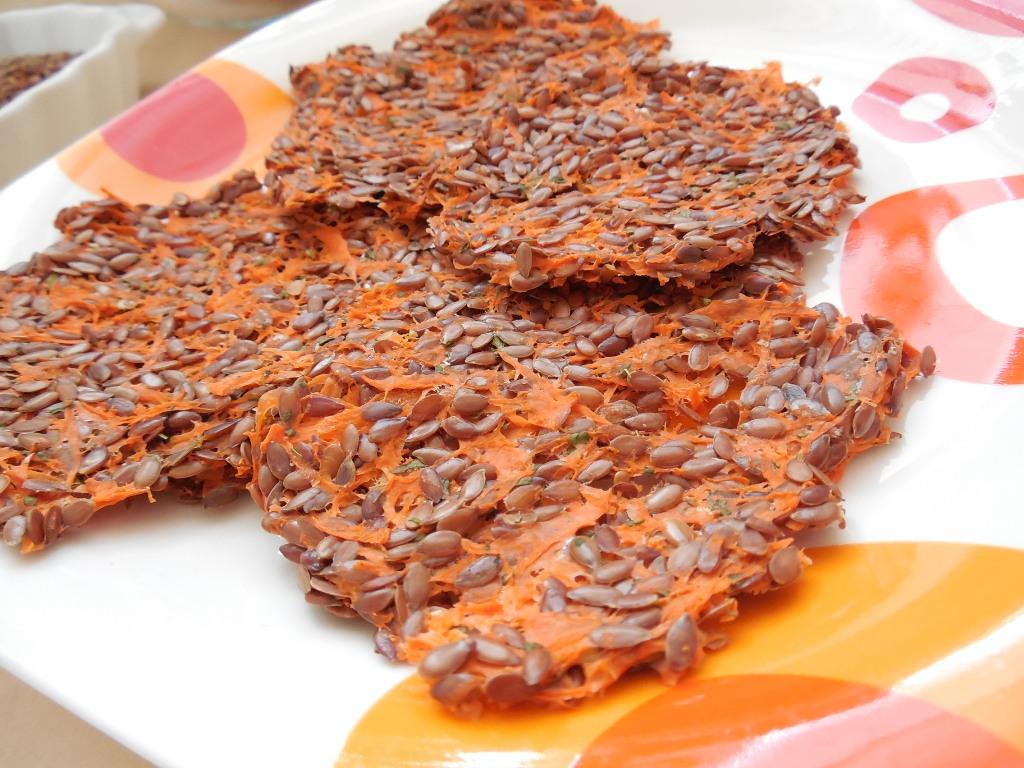 Lněné placičky s mrkví
