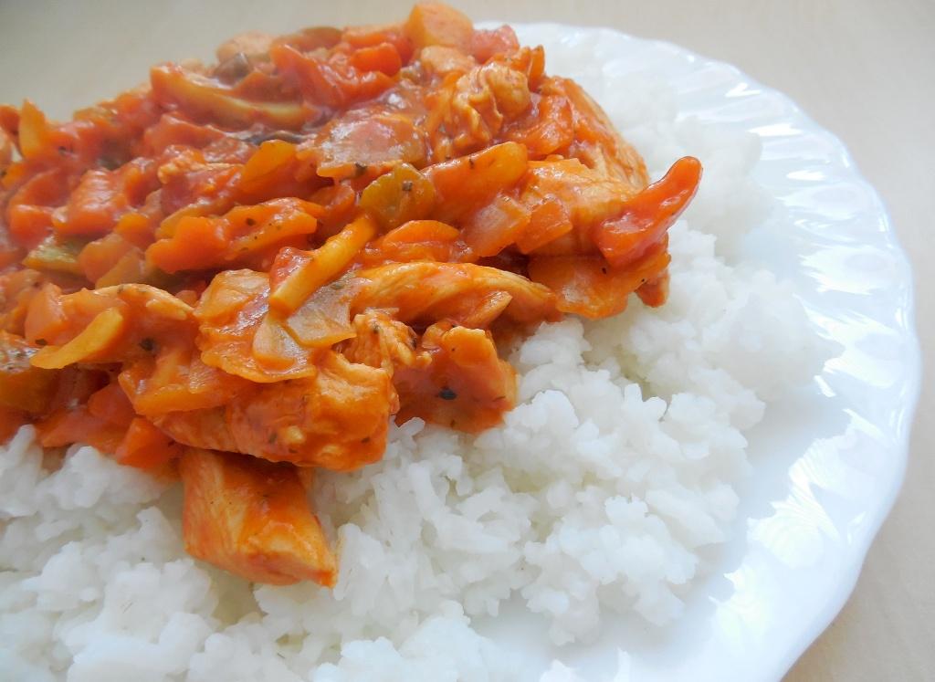 Fotografie receptu: Kuřecí čína s jasmínovou rýží
