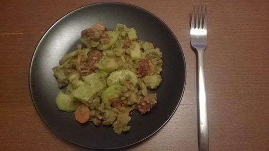 Čočkový vegetariánský salát