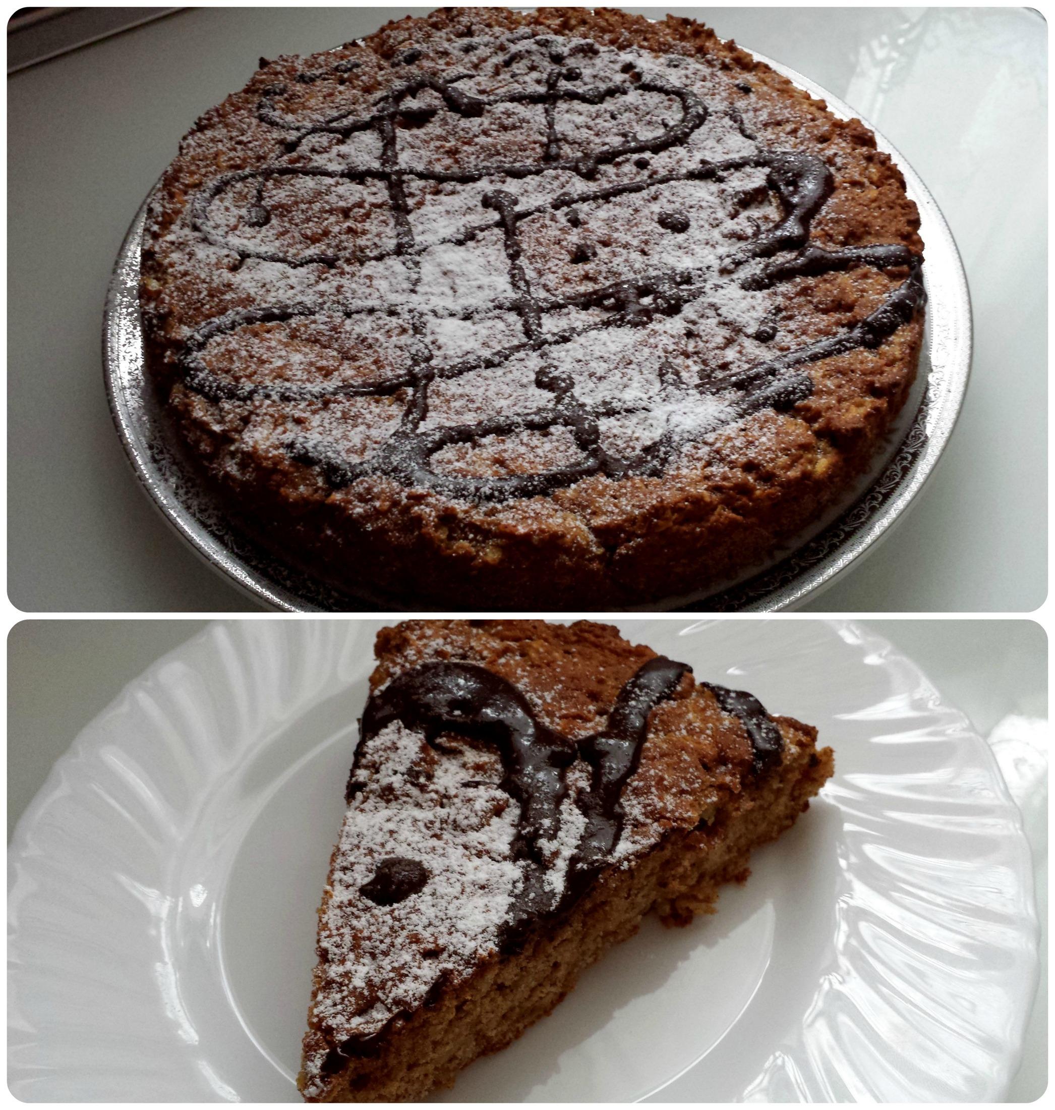 Fotografie receptu: Jablkovo-skořicový koláč bez vajec a mléka