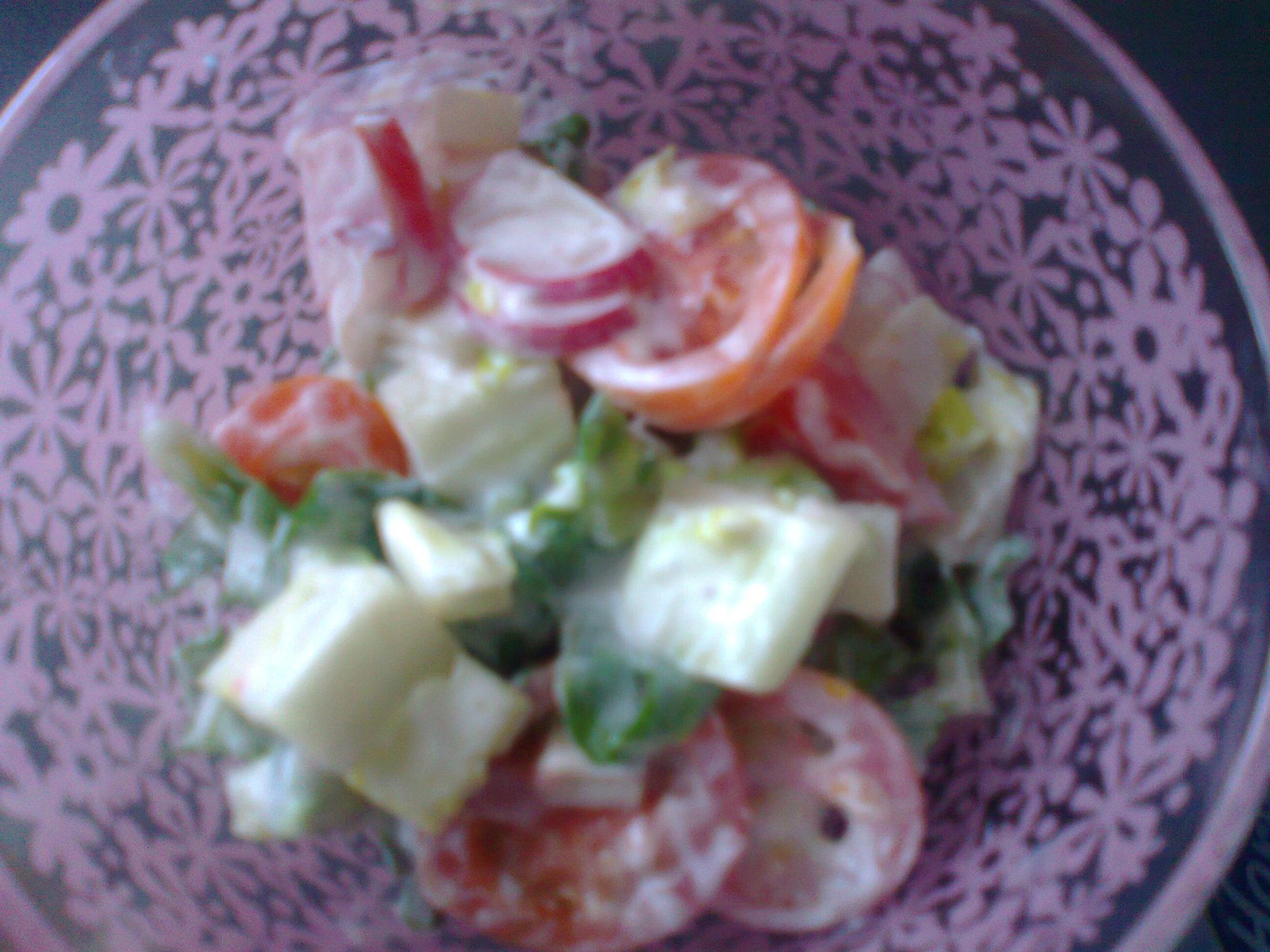 Fotografie receptu: Římský salát v jogurtu