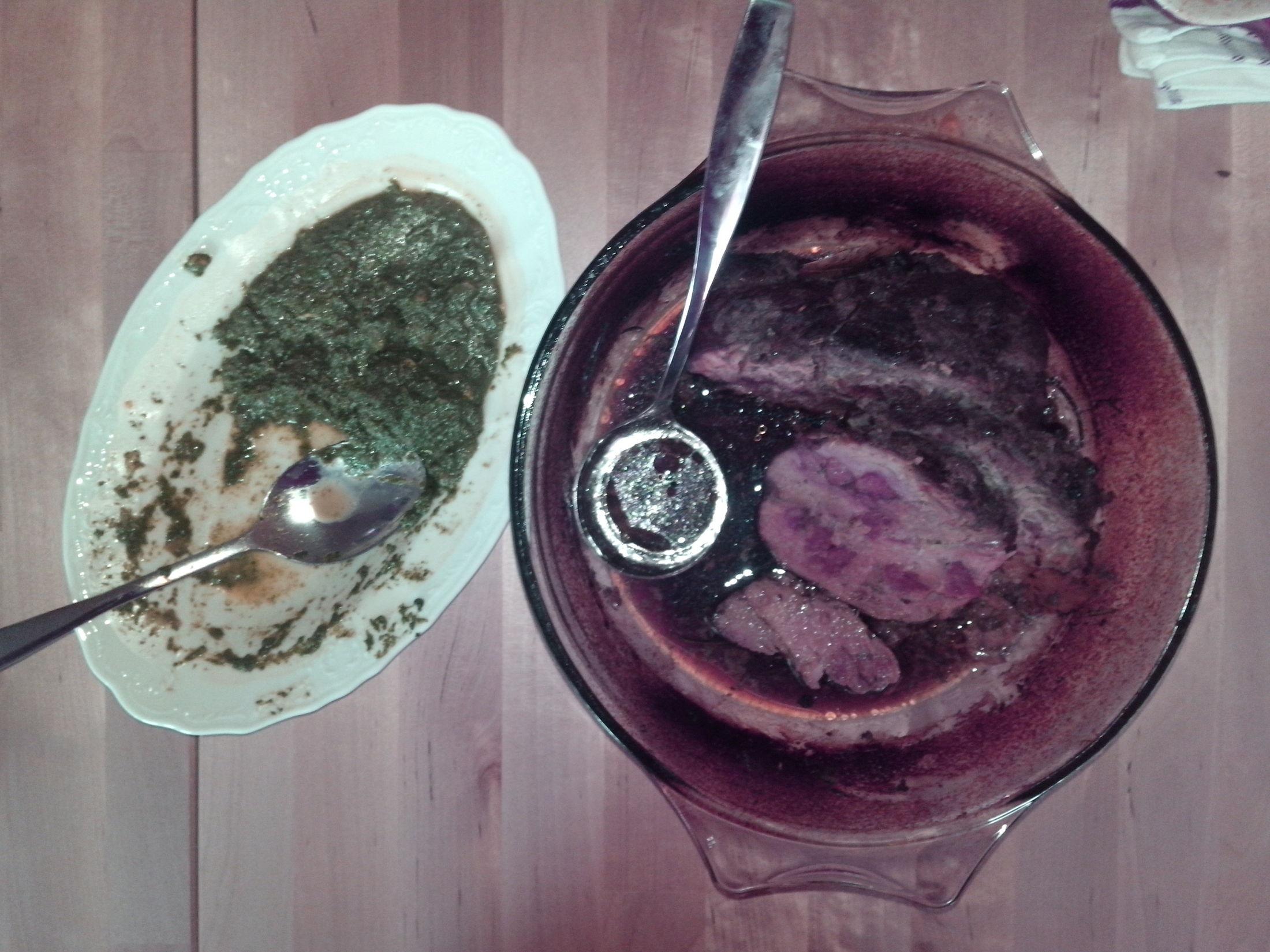 Fotografie receptu: Velikonoční vepřová pečeně s jarním špenátem a mladými kopřivami