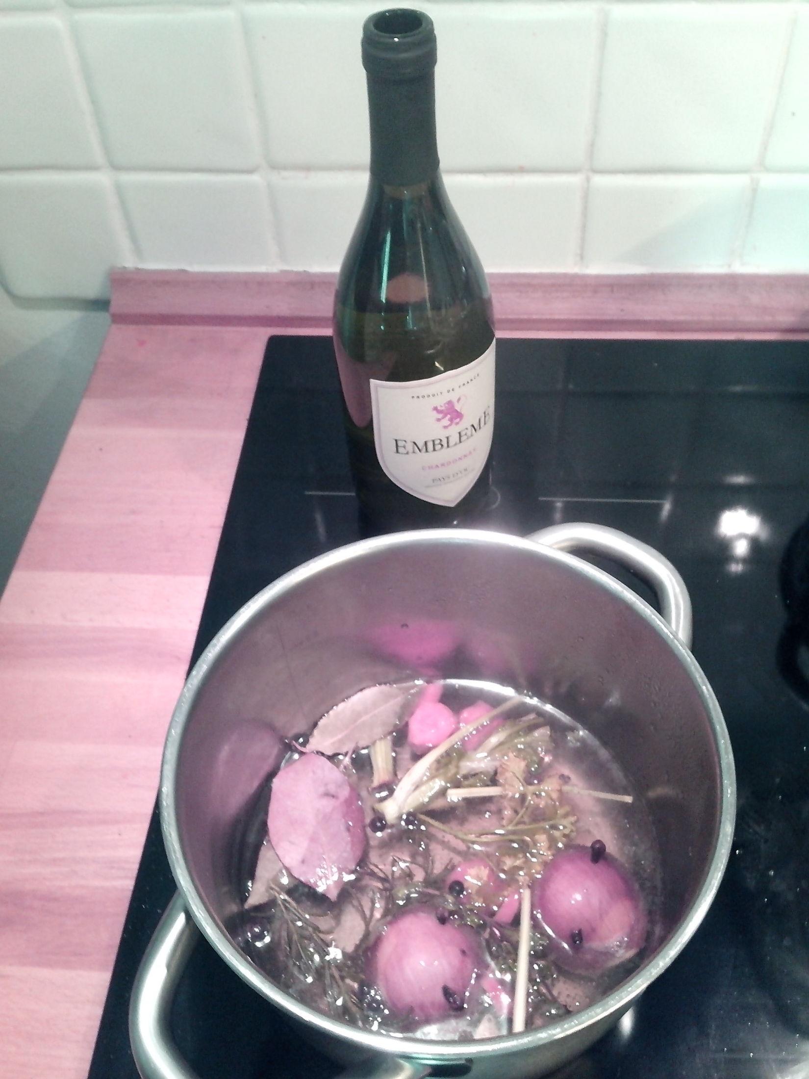 Fotografie receptu: Court-bouillon s bílým vínem